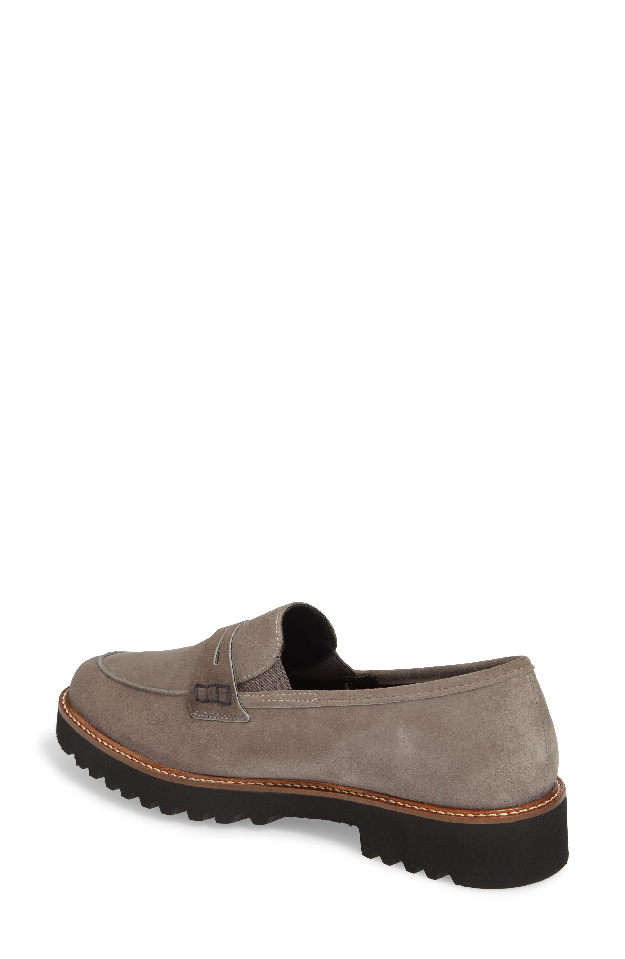 Sidney Penny Loafer,                             Alternate thumbnail 2, color,                             Grey Suede