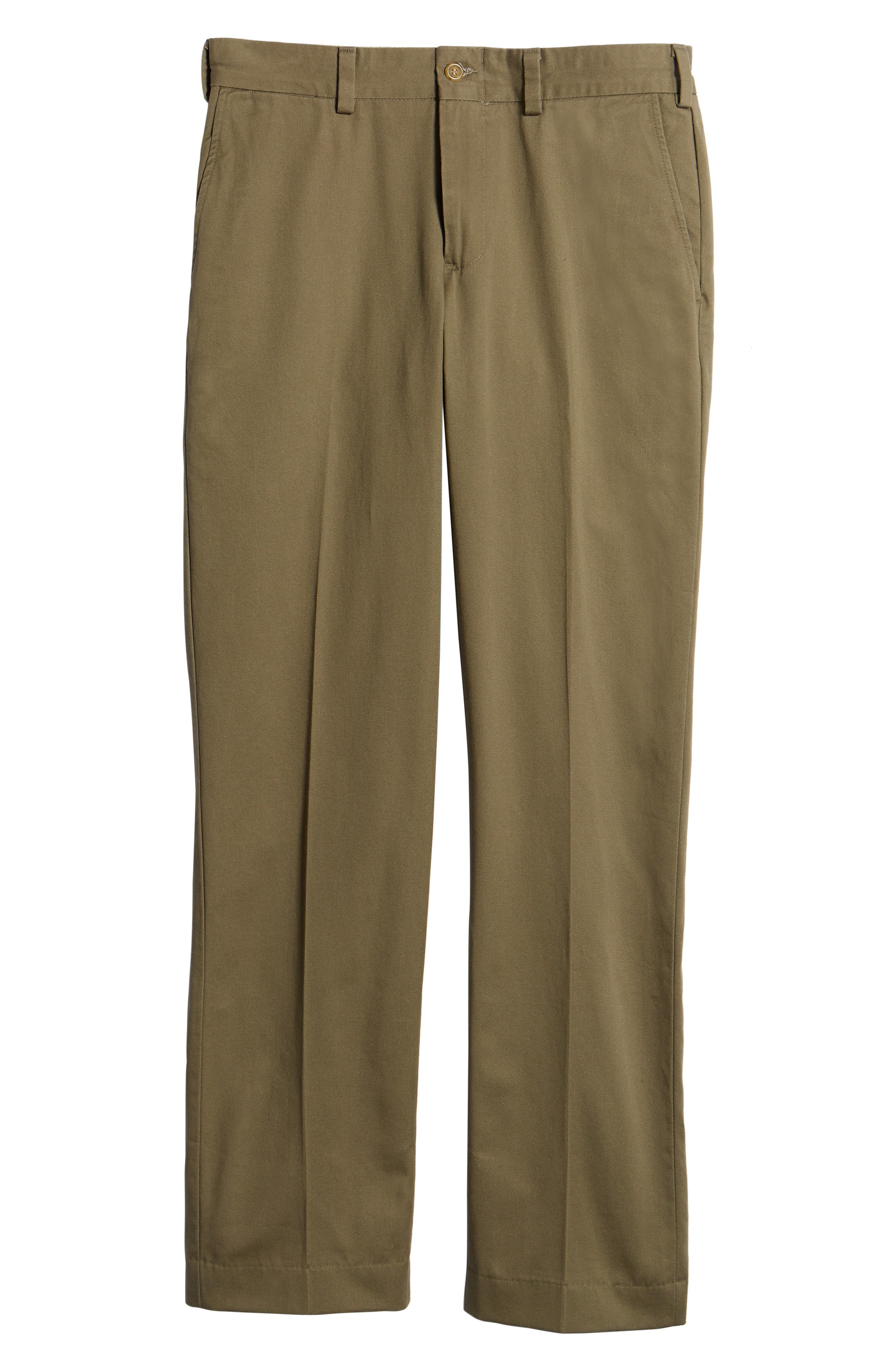 M3 Straight Fit Flat Front Vintage Twill Pants,                             Alternate thumbnail 6, color,                             Olive