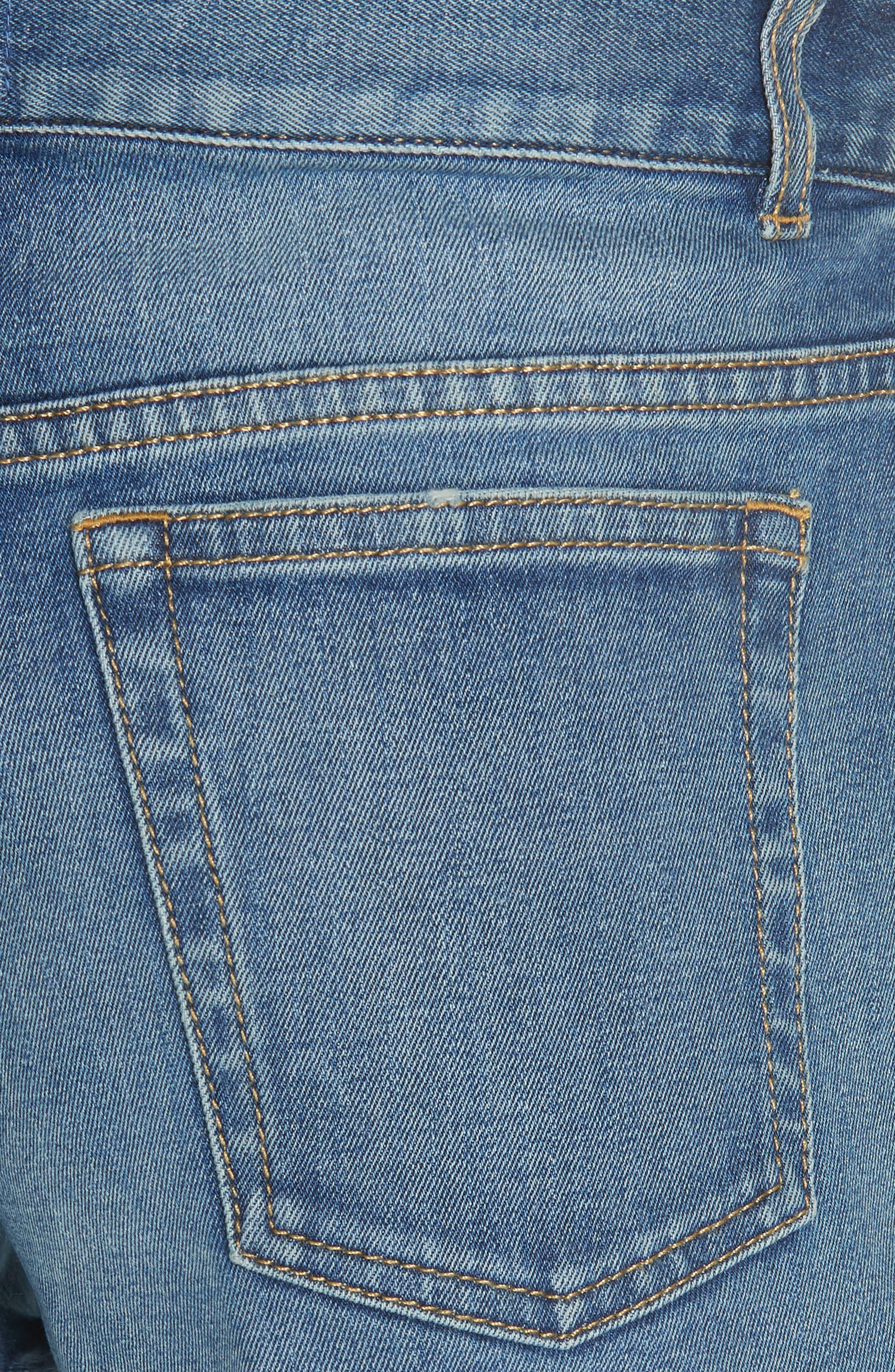 AO.LA Embroidered Denim Shorts,                             Alternate thumbnail 5, color,                             Multi