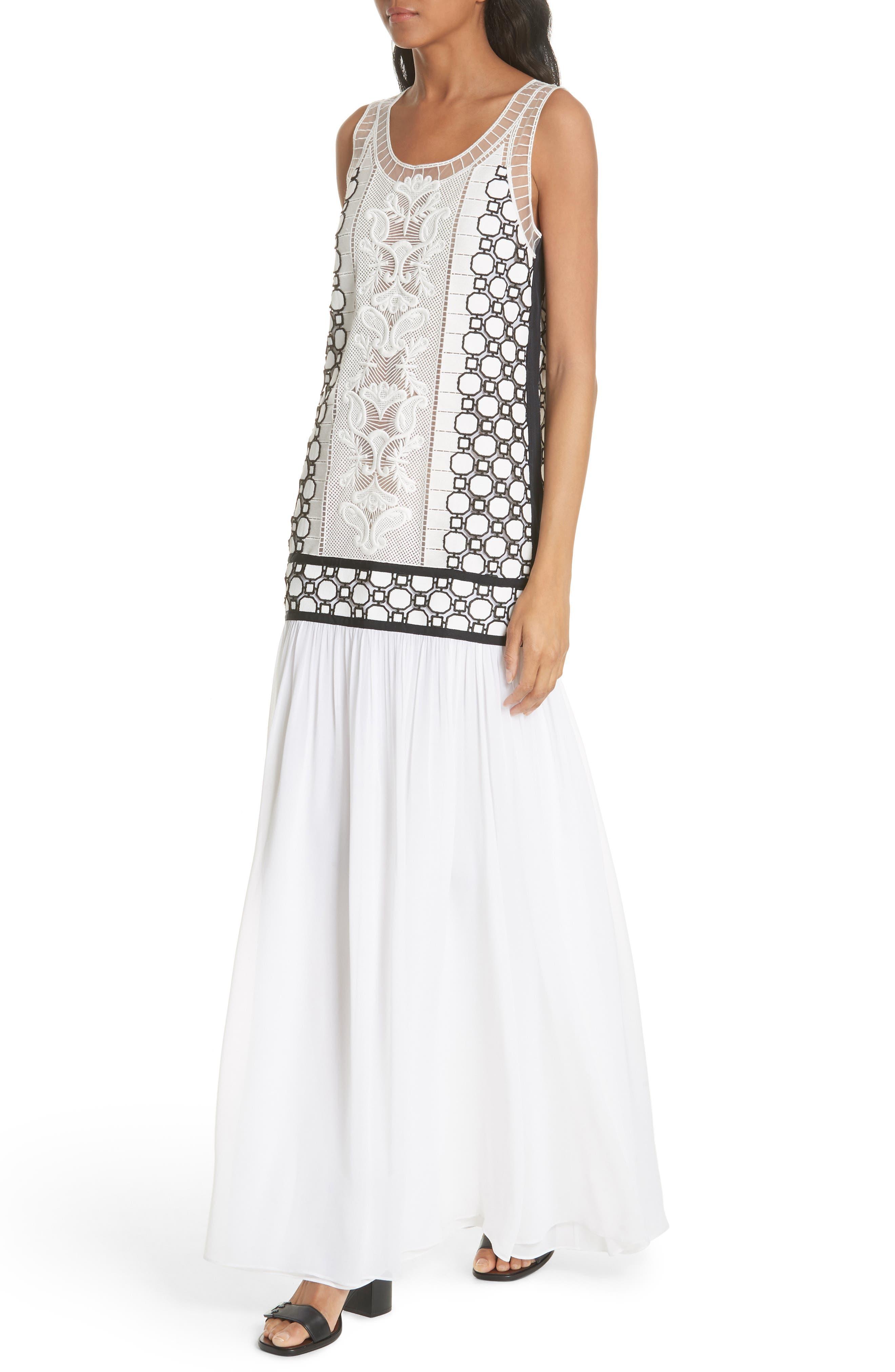 Helena Dress,                             Alternate thumbnail 4, color,                             White