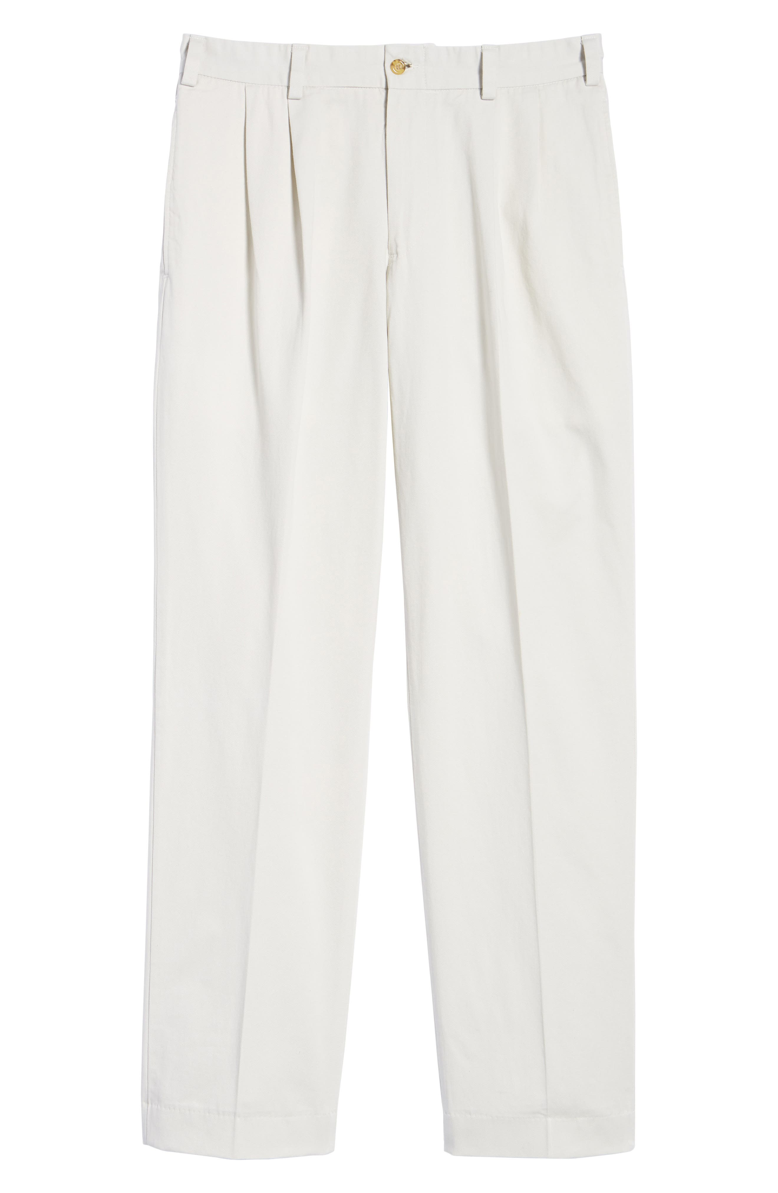 M2 Classic Fit Vintage Twill Pleated Pants,                             Alternate thumbnail 6, color,                             Stone