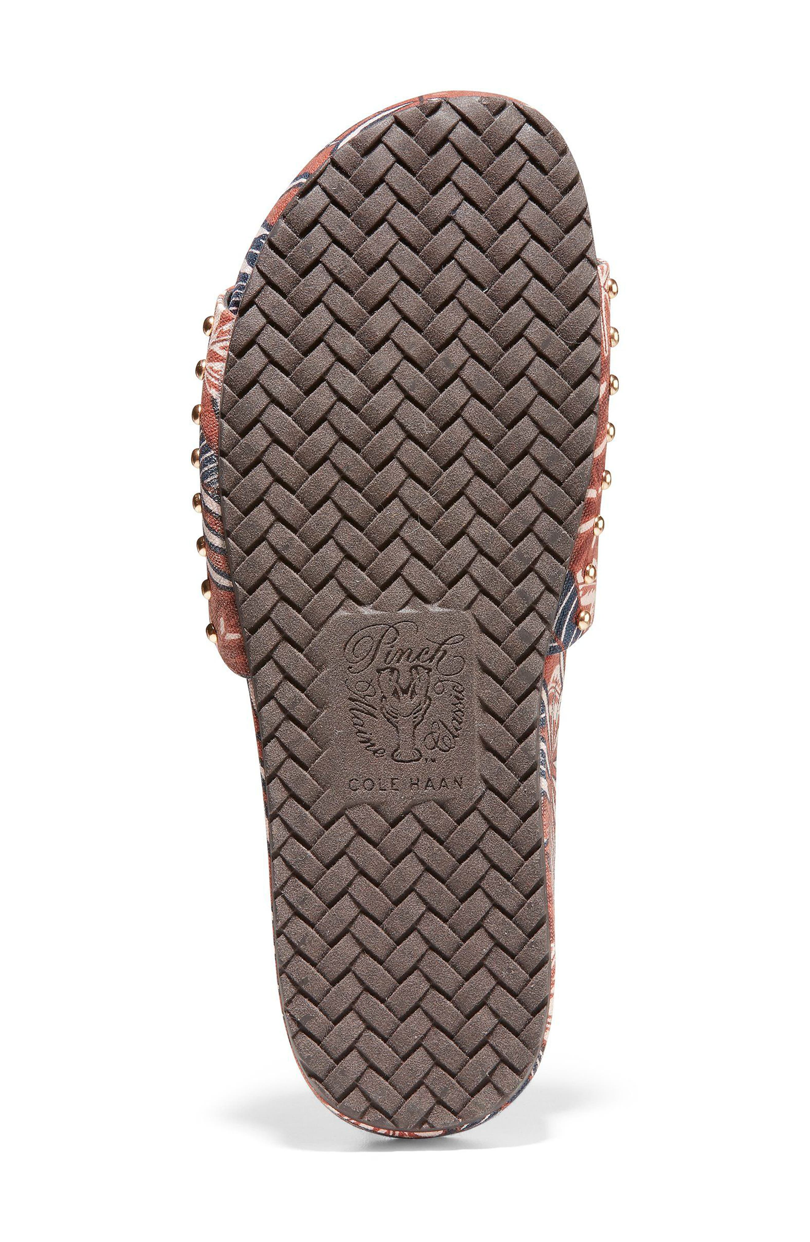 Pinch Montauk Print Slide Sandal,                             Alternate thumbnail 6, color,                             Tropical Palm Print Fabric