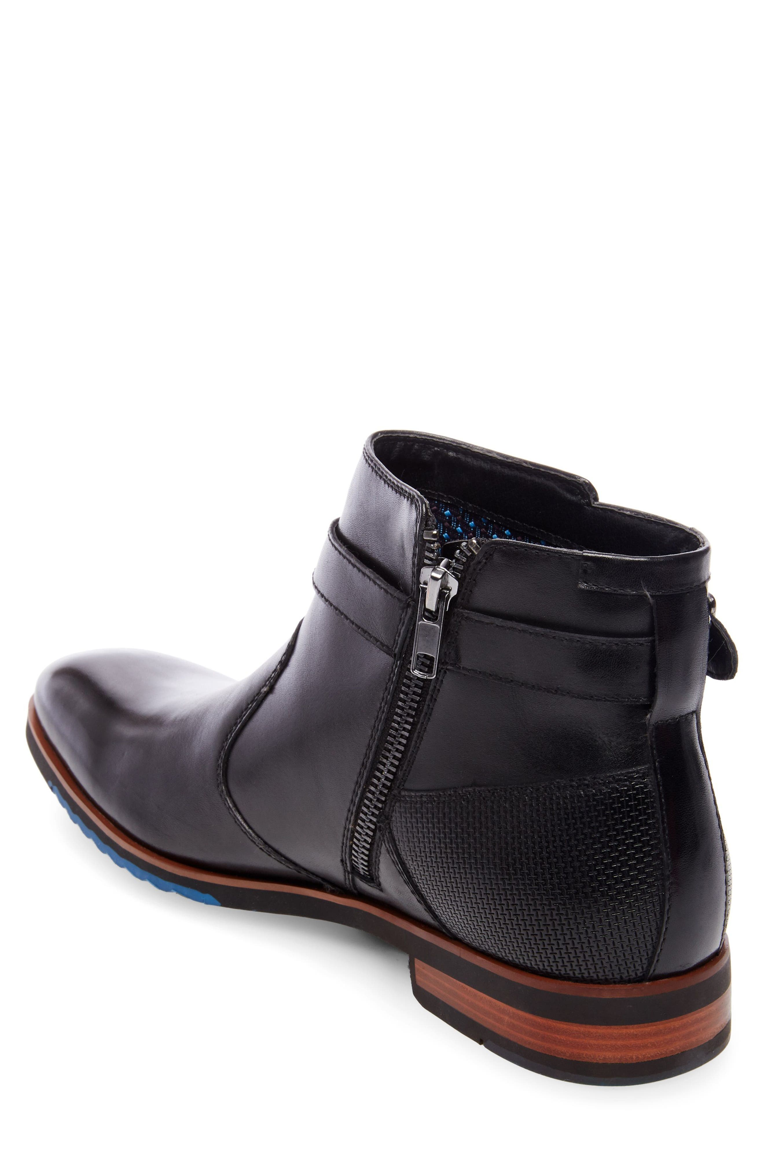 Levant Boot,                             Alternate thumbnail 2, color,                             Black Leather
