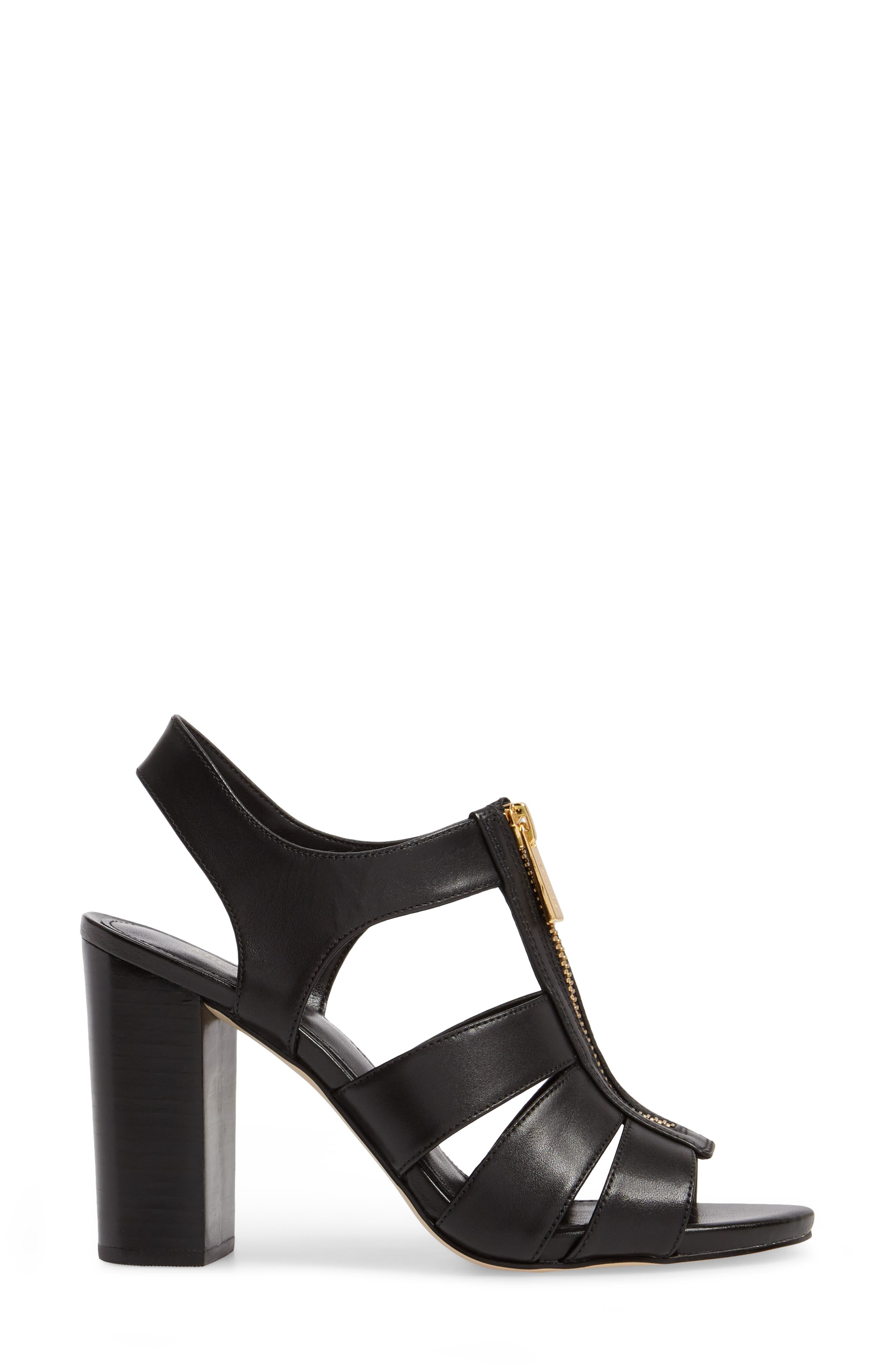 Damita Sandal,                             Alternate thumbnail 3, color,                             Black