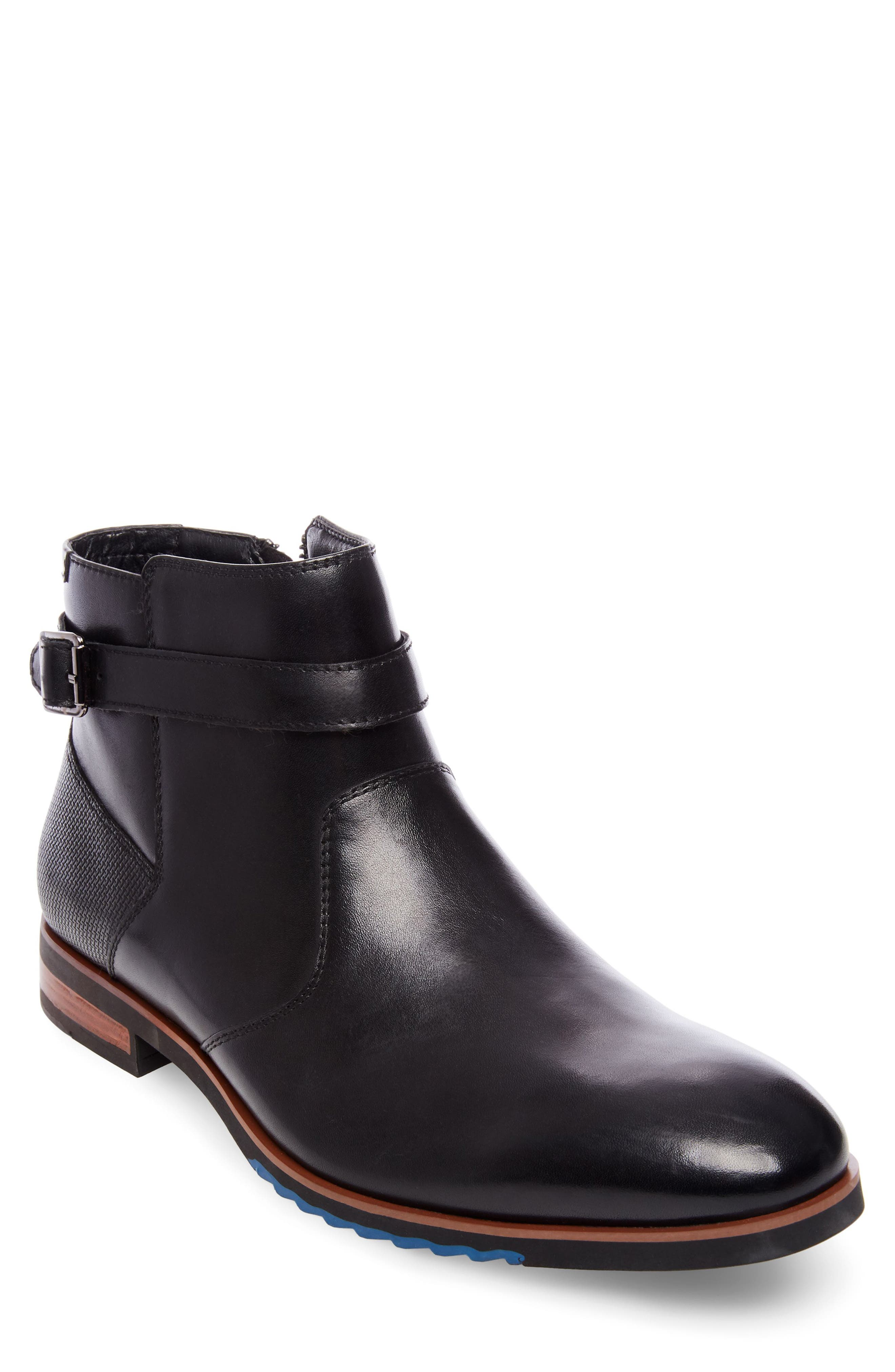 Levant Boot,                         Main,                         color, Black Leather