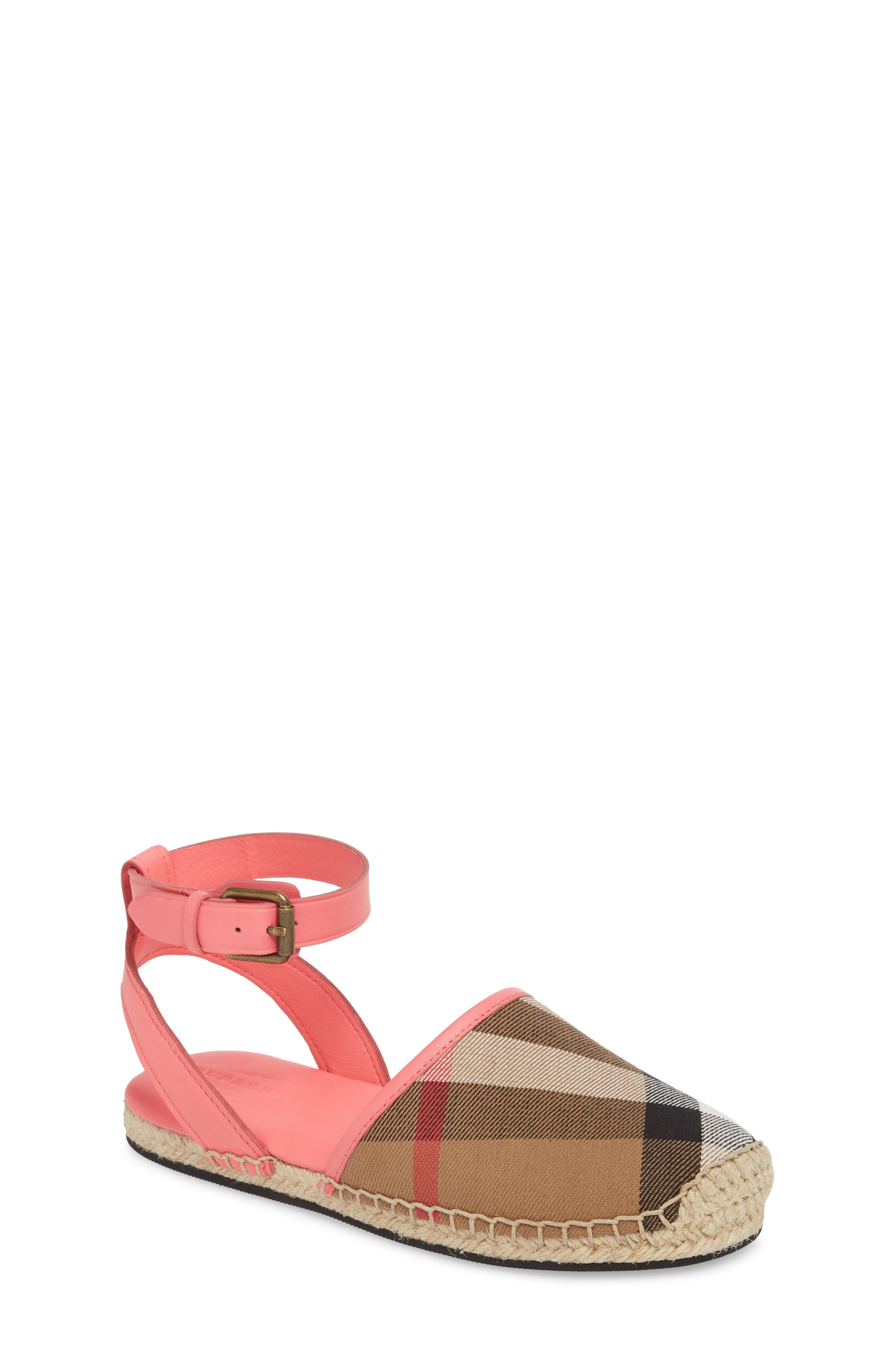 Burberry New Perth Espadrille Sandal (Walker, Toddler & Little Kid)
