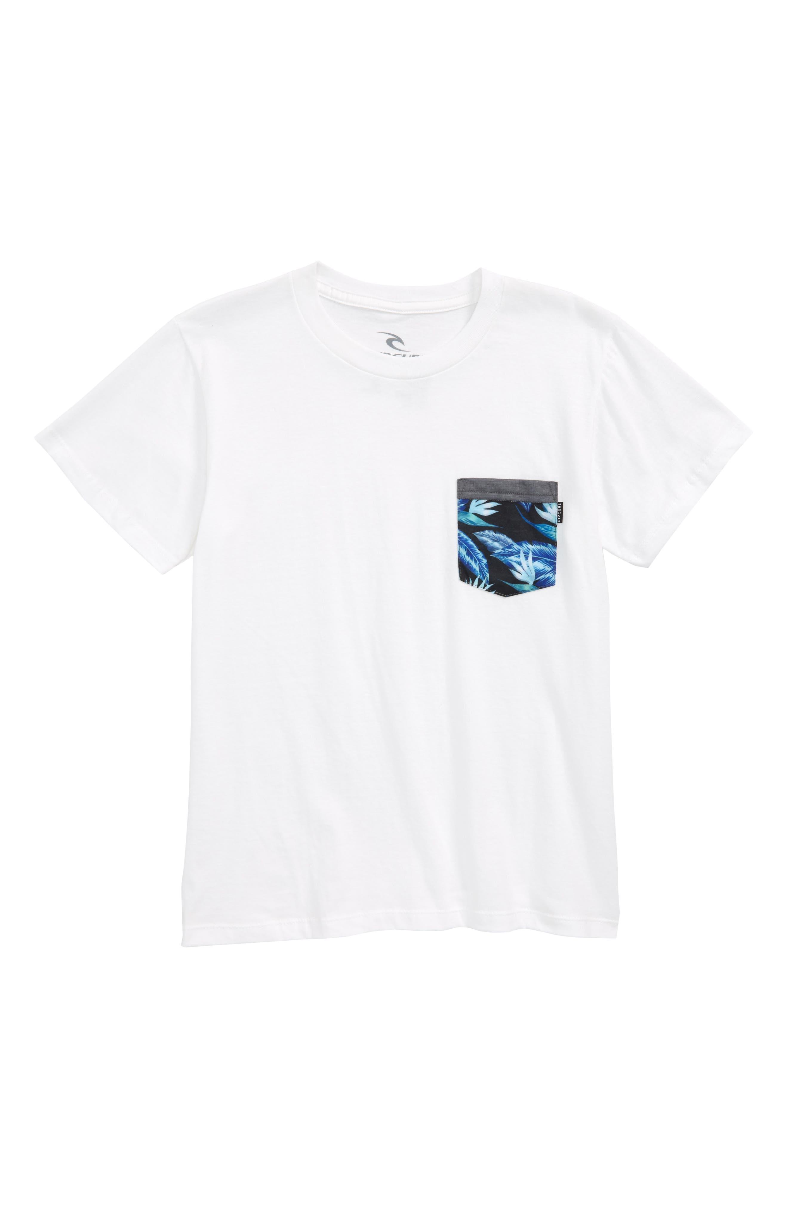 Plethera Premium Pocket T-Shirt,                             Main thumbnail 1, color,                             White