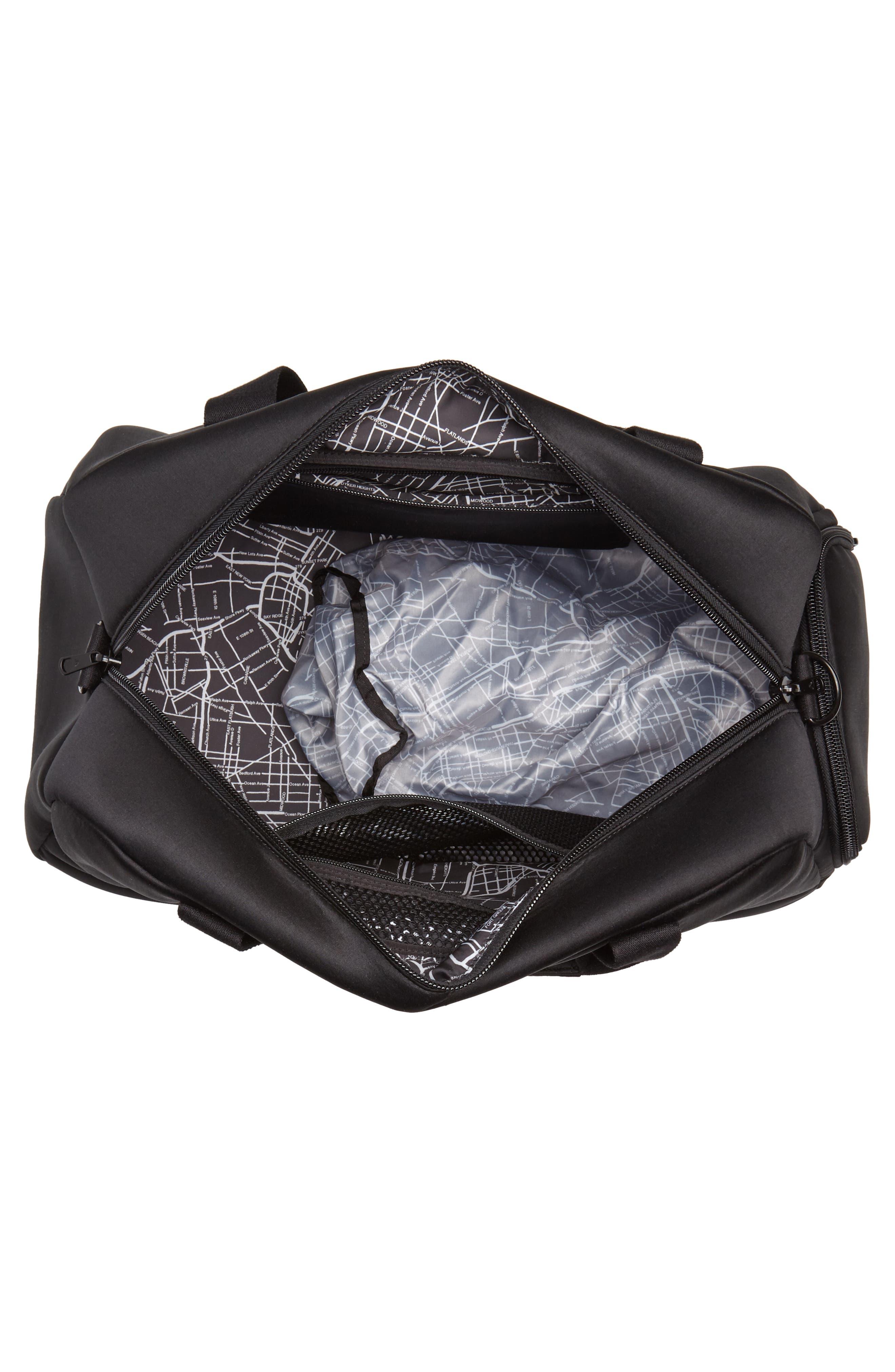 Franklin Neoprene Duffel Bag,                             Alternate thumbnail 3, color,                             Black