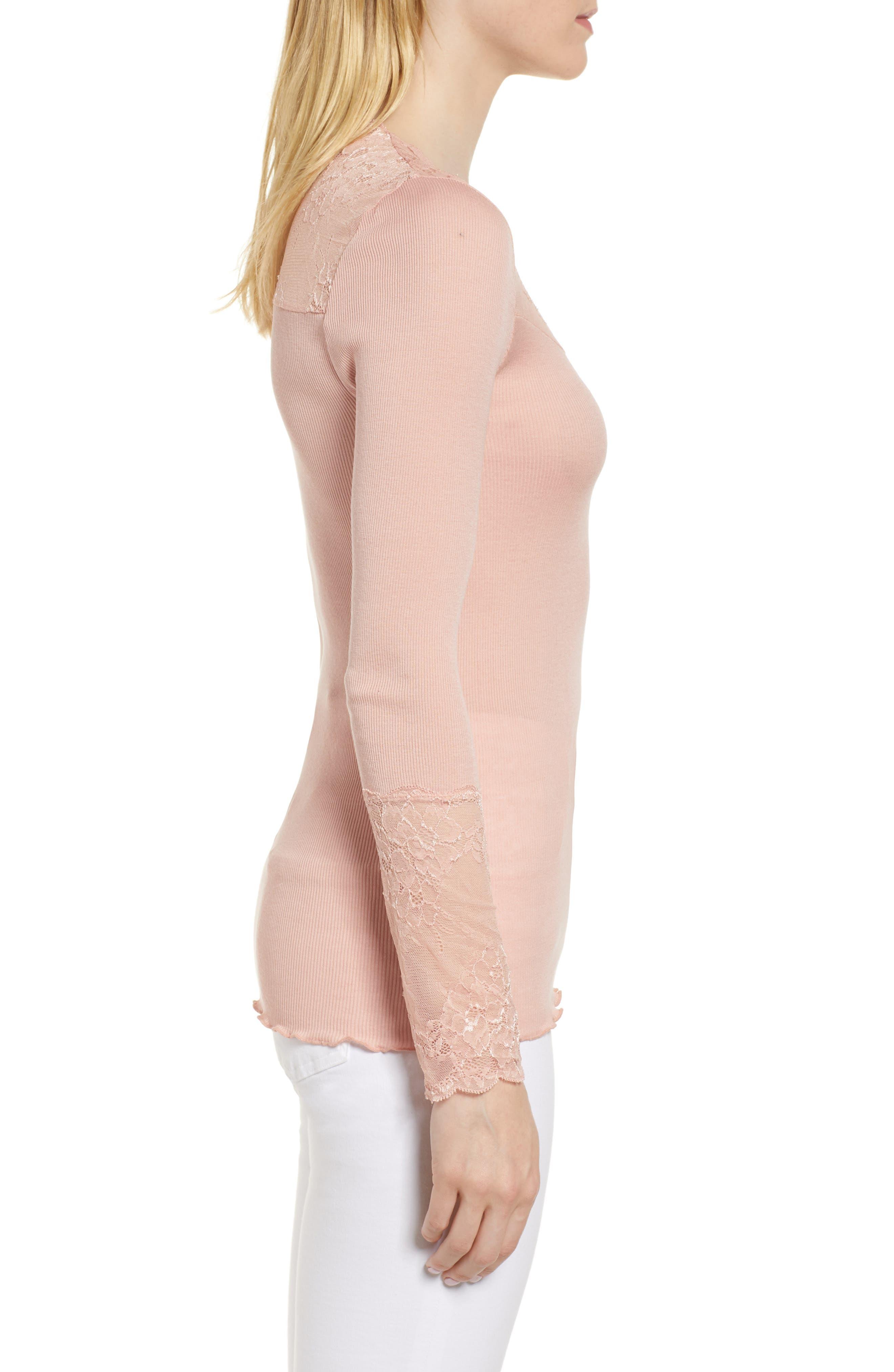 Alternate Image 3  - Rosemunde Brigit Lace Embellished Silk Blend Top