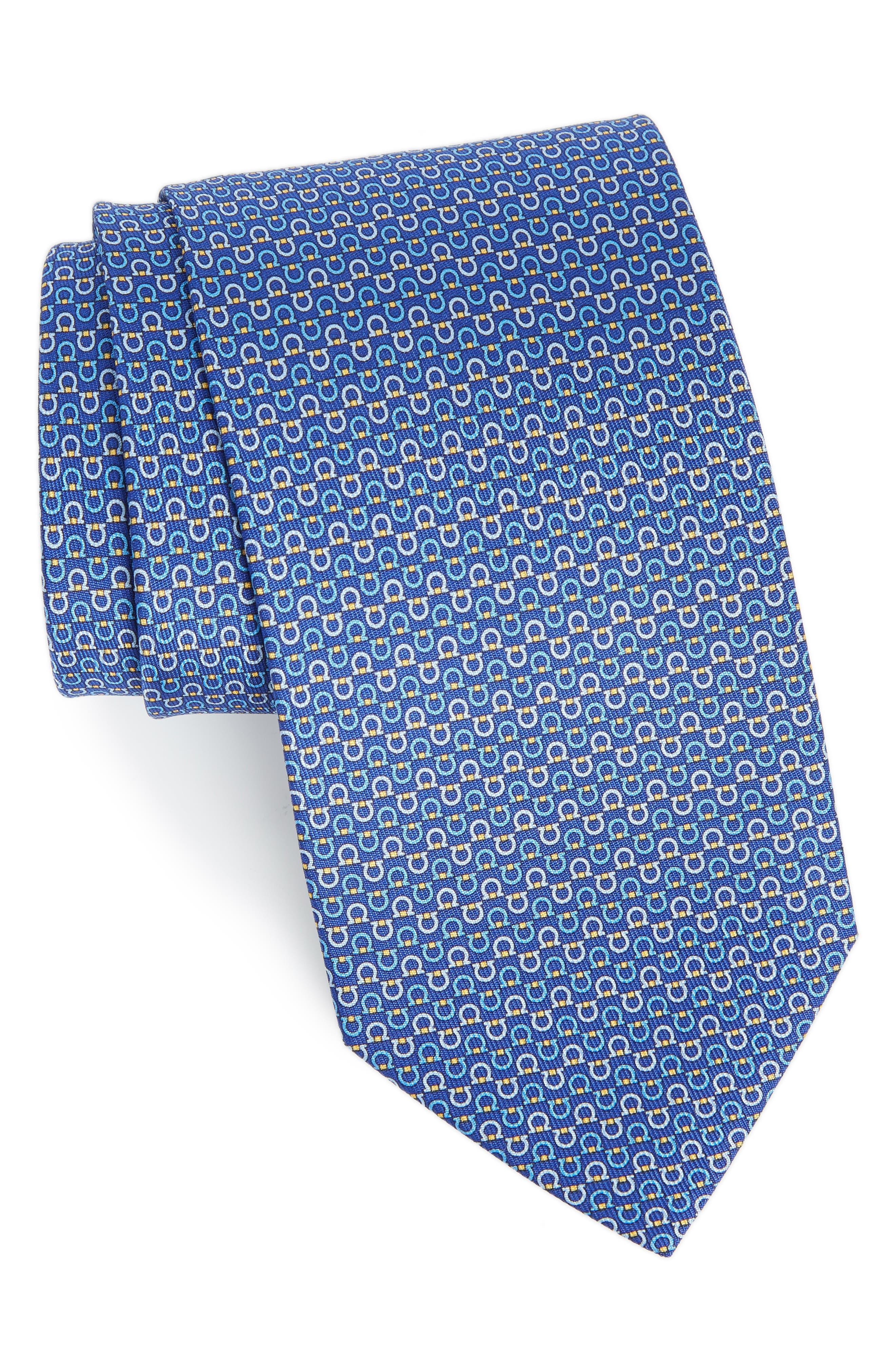 Elisir Print Silk Tie,                         Main,                         color, Blue