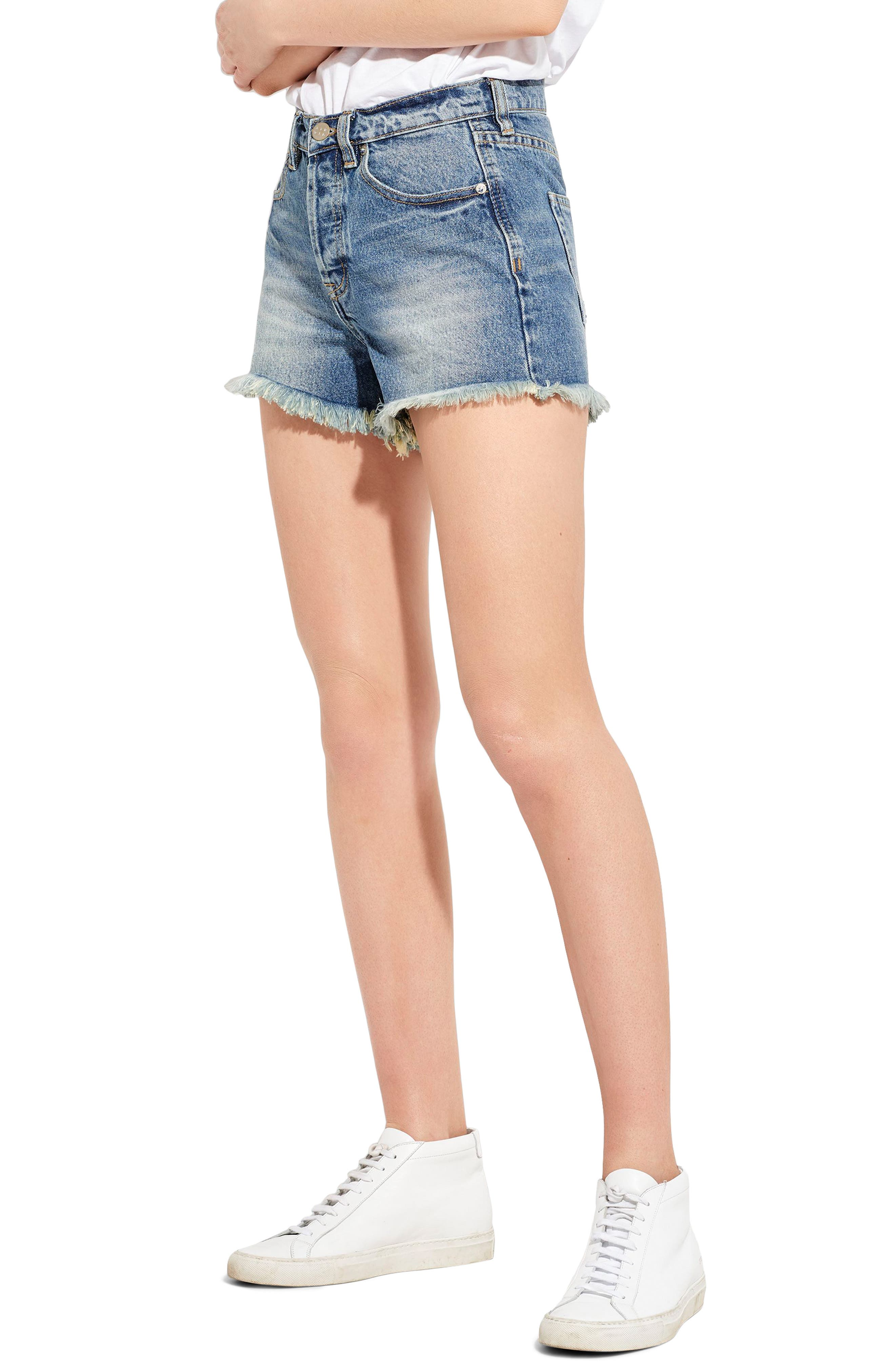 The Cutoff Denim Shorts,                             Alternate thumbnail 4, color,                             London Calling