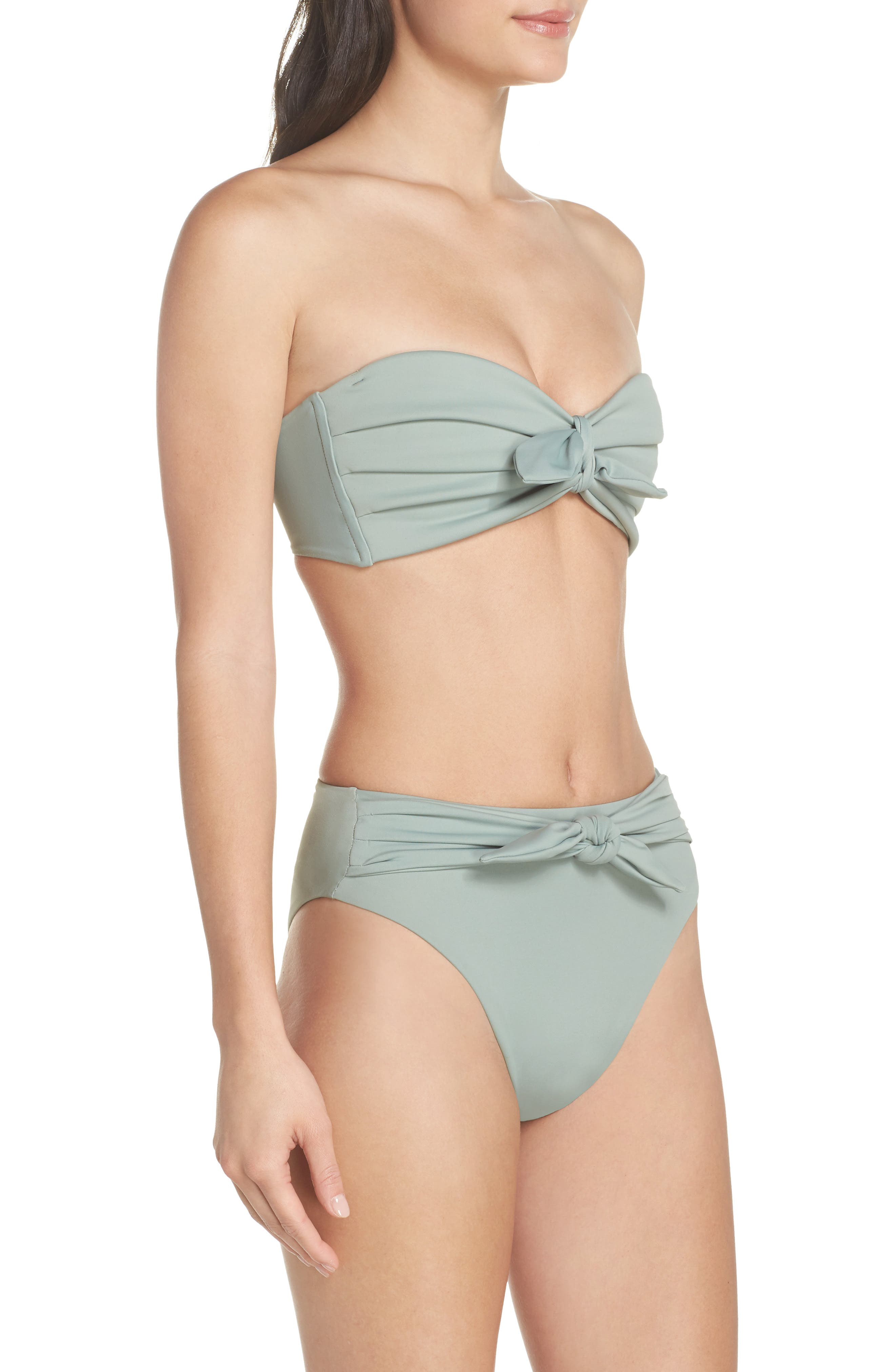 Paula Tie-Up Bikini Bottoms,                             Alternate thumbnail 7, color,                             Pistache Green