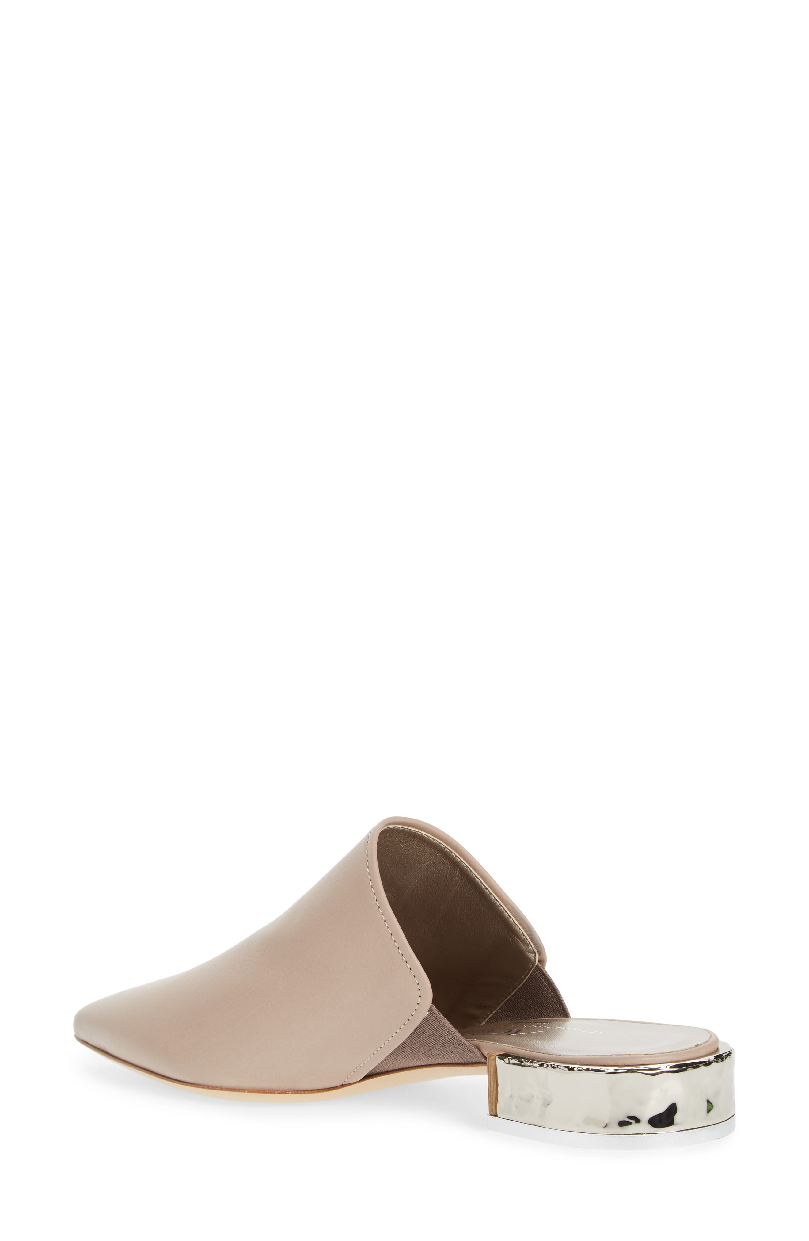 Pointed Toe Mule,                             Alternate thumbnail 2, color,                             Marble Leather
