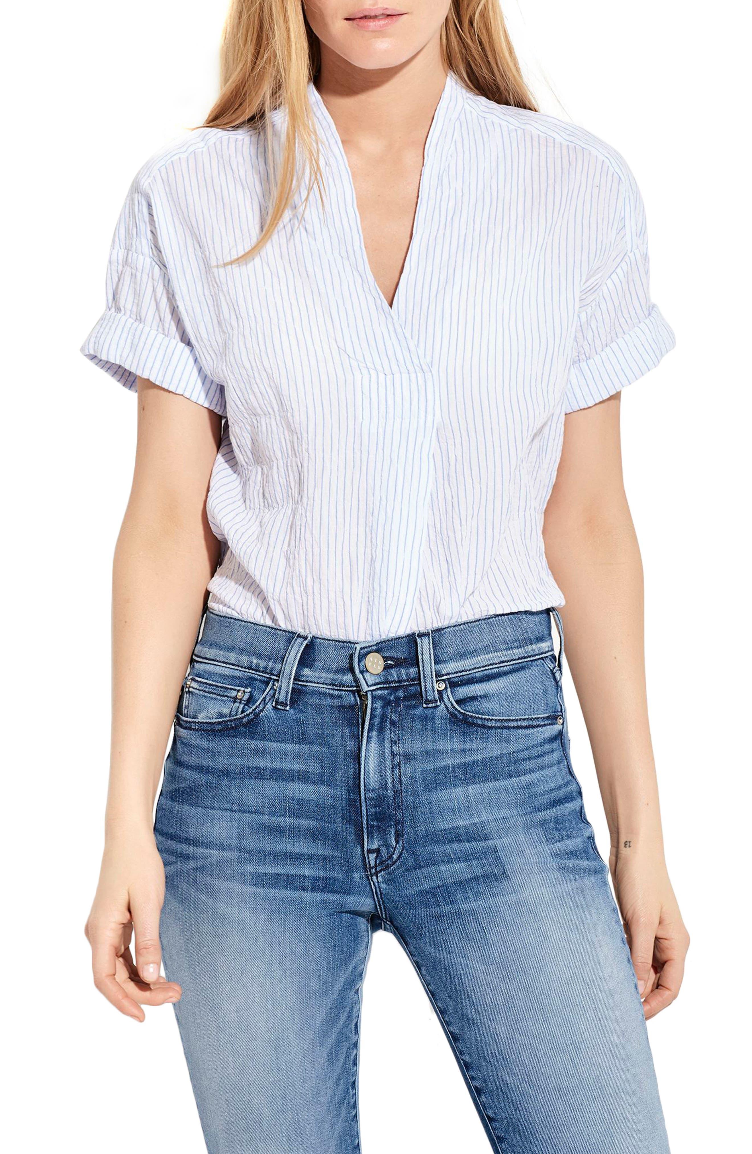 The Hero Shirt,                         Main,                         color, Blue/ White Stripe