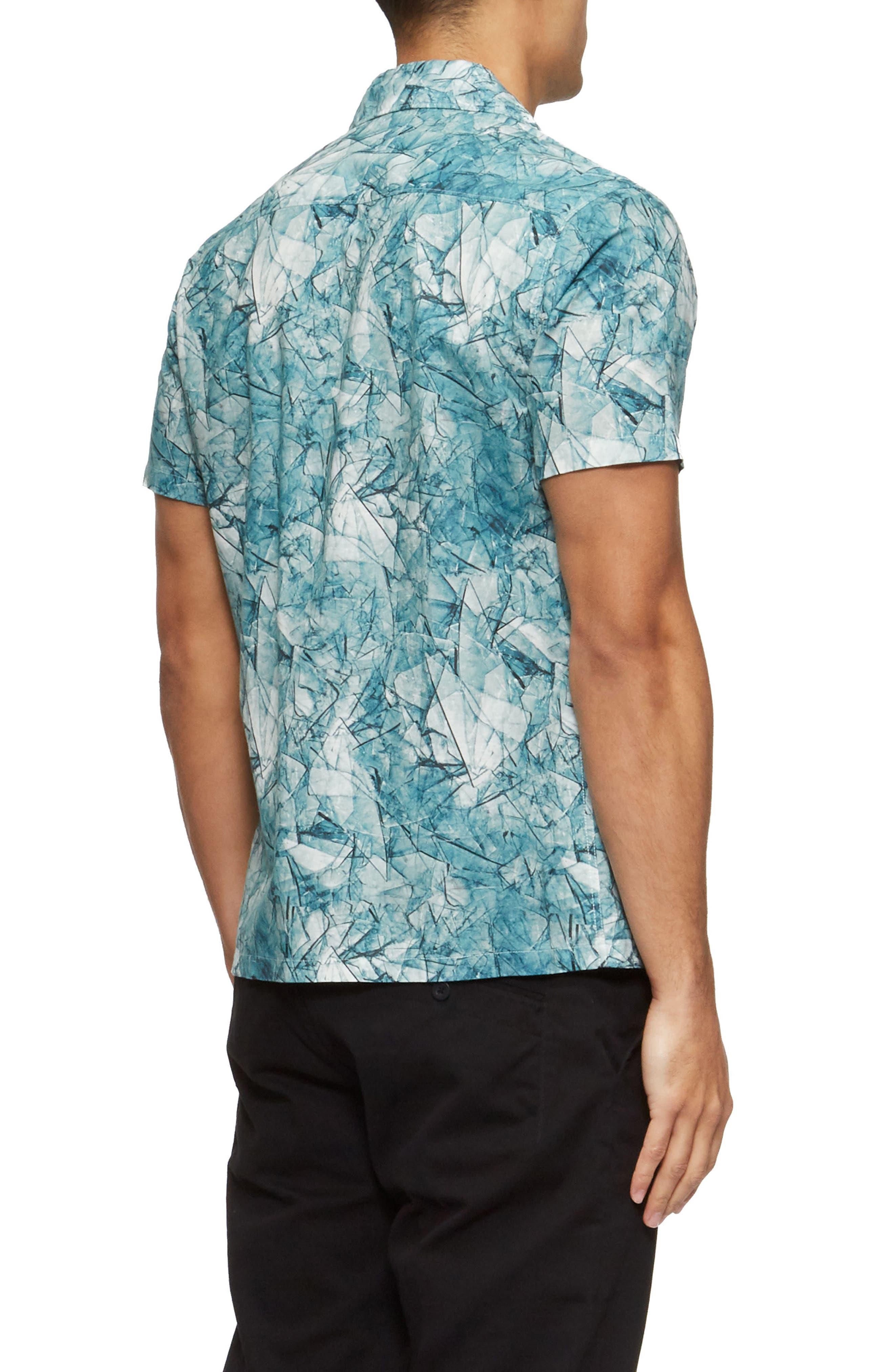 Shoto Short Sleeve Shirt,                             Alternate thumbnail 2, color,                             Shattered Blue