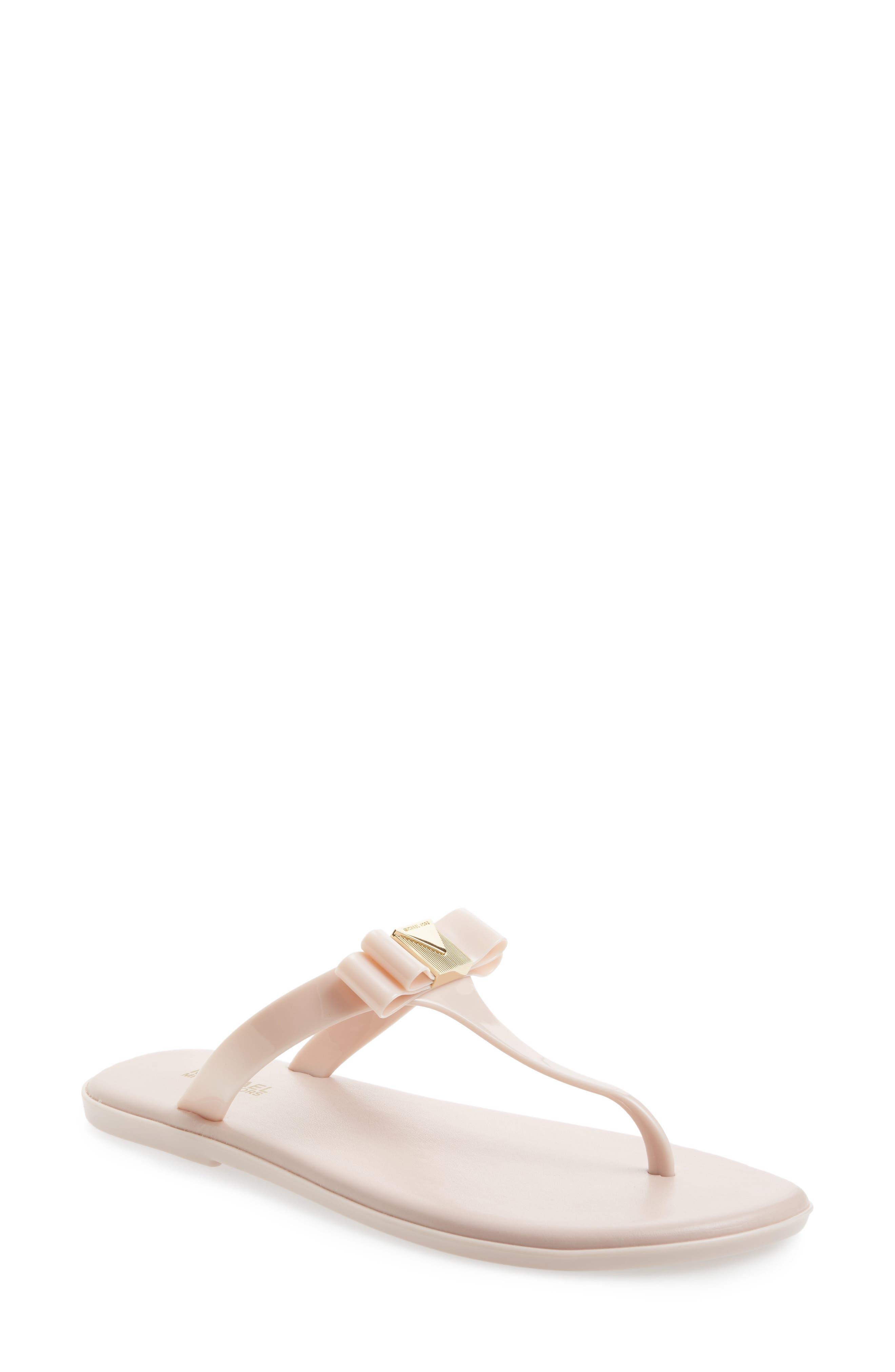 Caroline Jelly Flip Flop,                         Main,                         color, Soft Pink