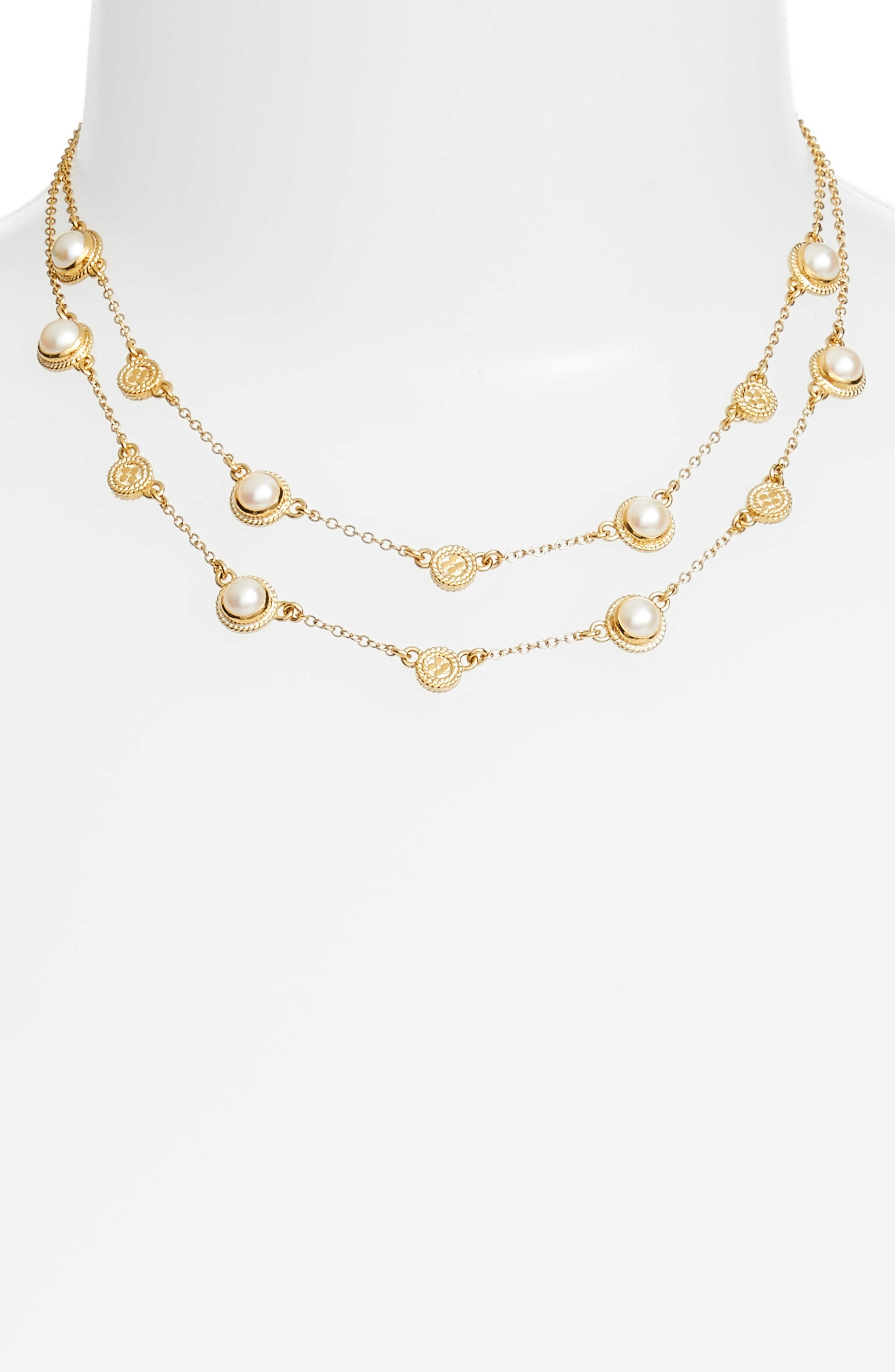 Anna Beck Double Strand Pearl Collar Necklace
