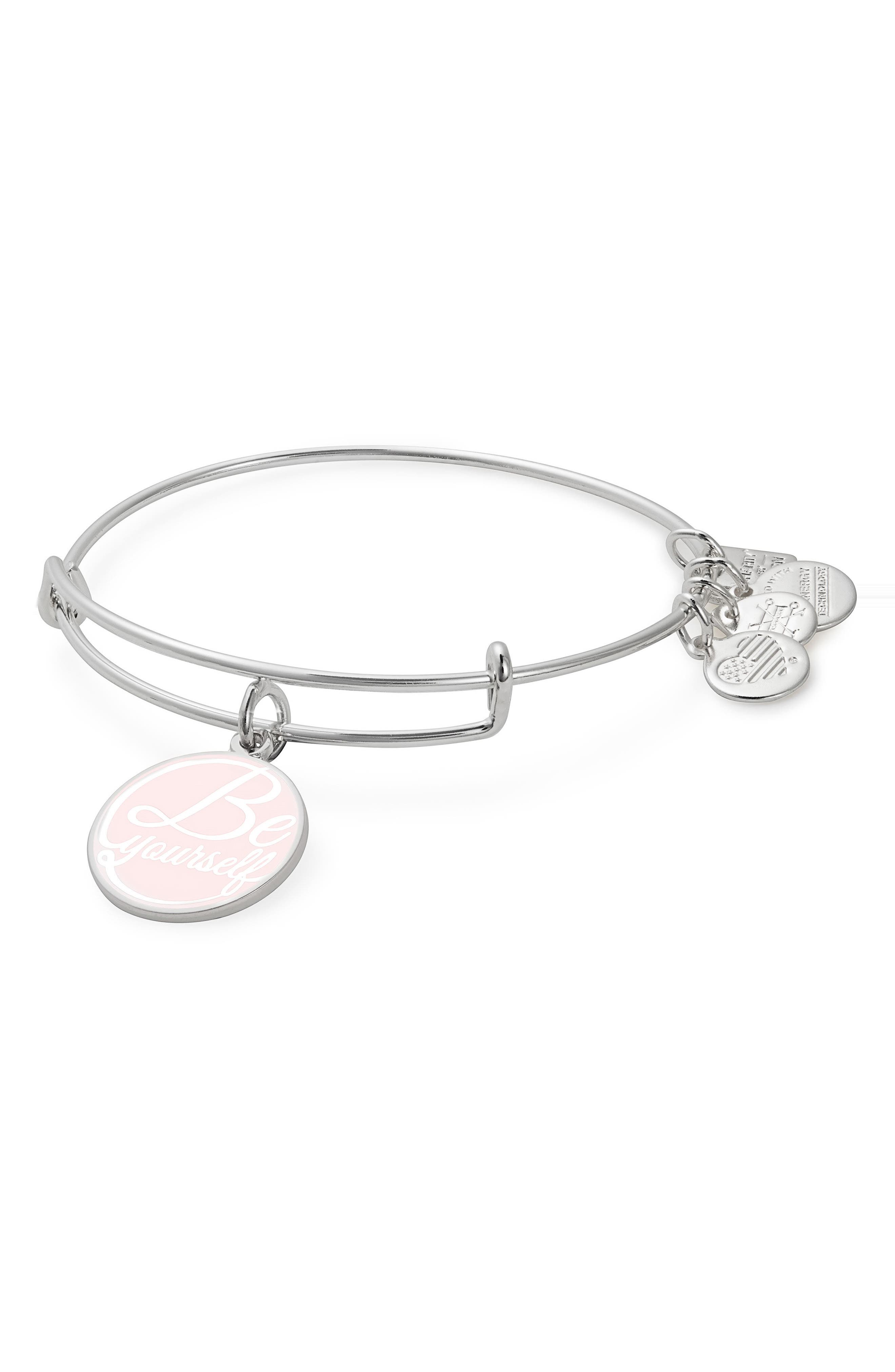 Be Yourself Bangle,                         Main,                         color, Silver
