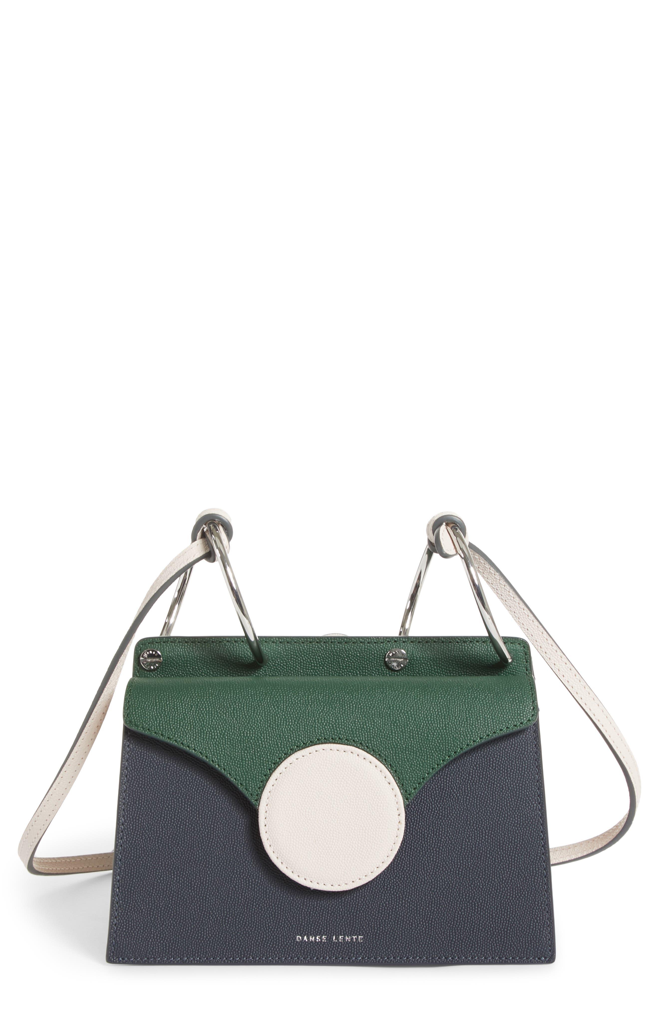 Mini Phoebe Leather Bag,                         Main,                         color, Pine-Marine