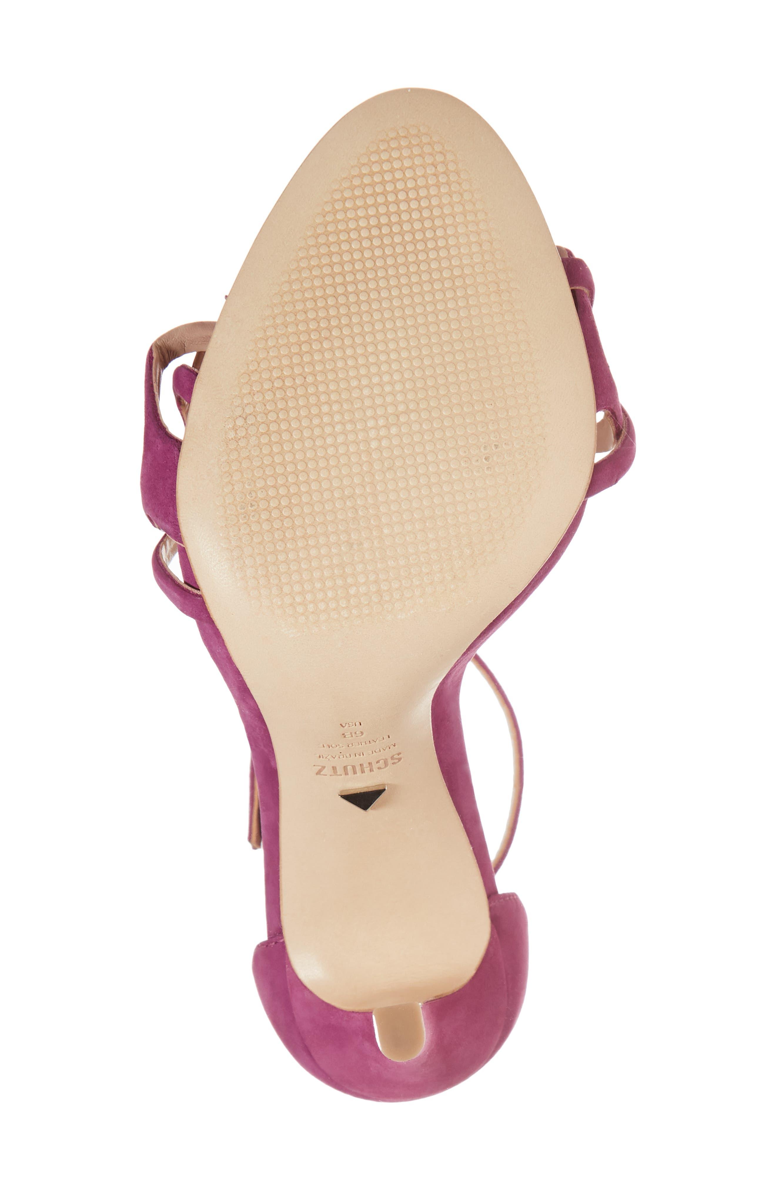 Sthefany Ankle Strap Sandal,                             Alternate thumbnail 6, color,                             Grape Leather