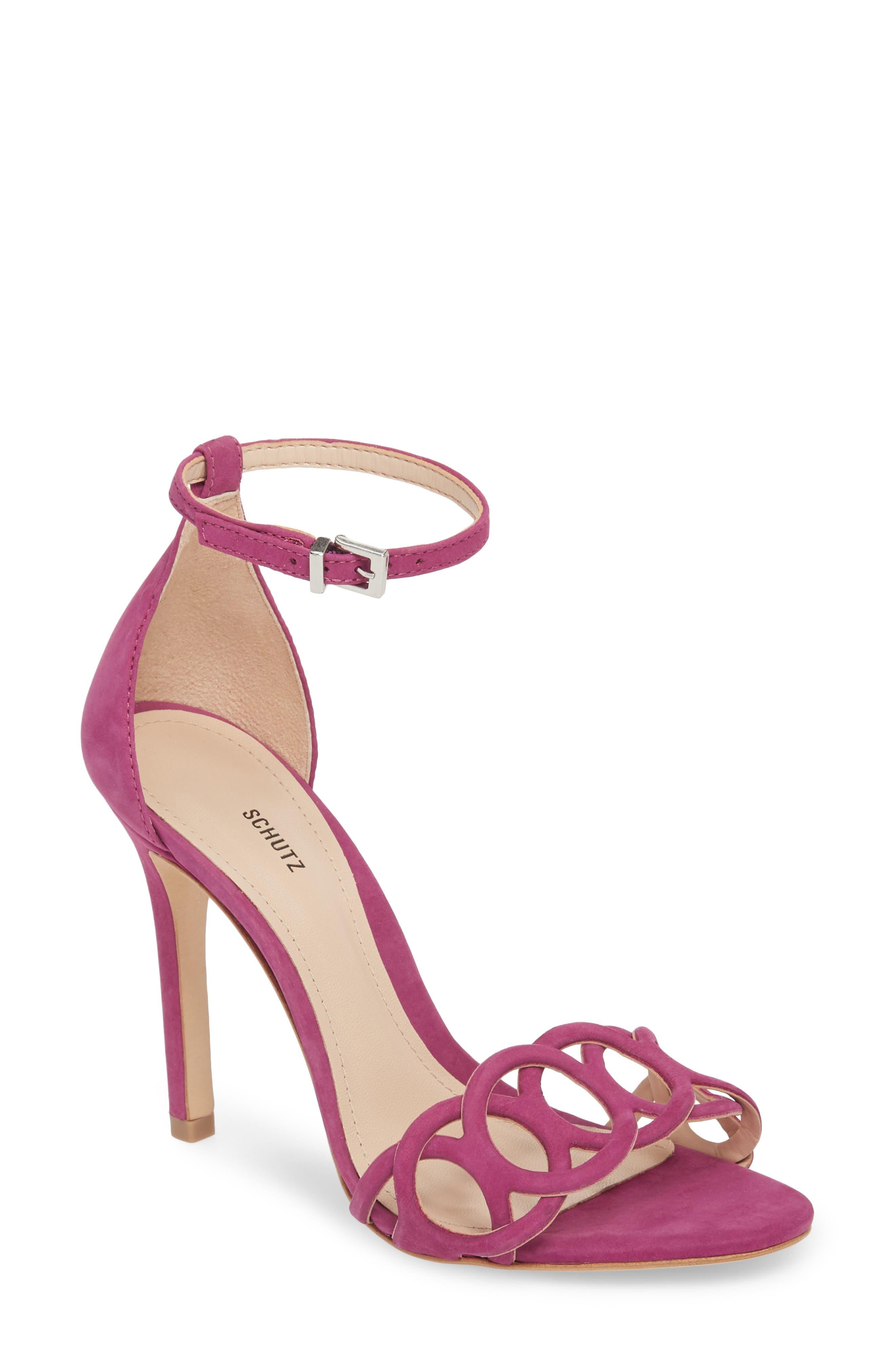 Sthefany Ankle Strap Sandal,                             Main thumbnail 1, color,                             Grape Leather