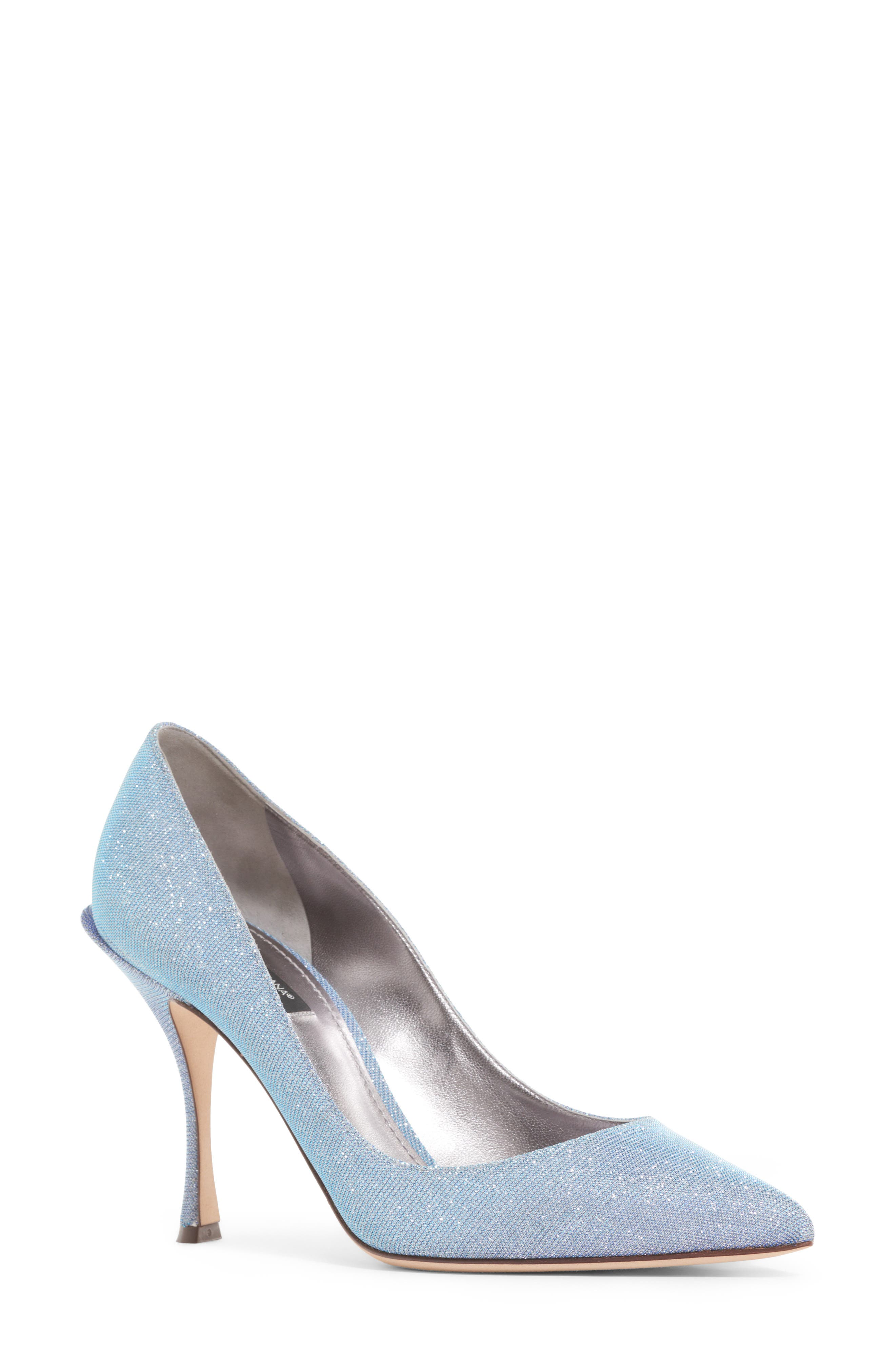 Dolce&Gabbana Metallic Pointy Toe Pump (Women)