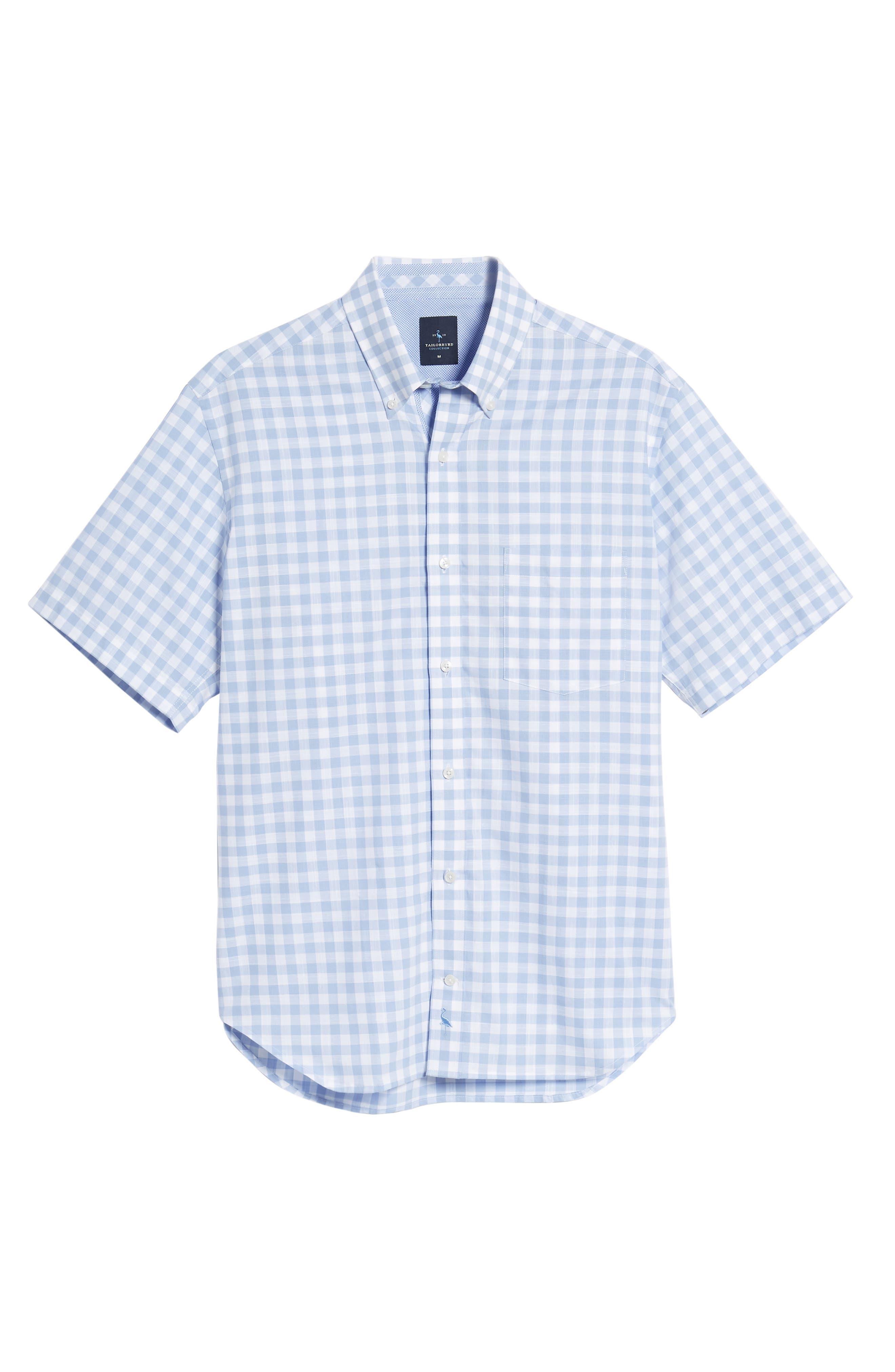 Hawes Regular Fit Check Sport Shirt,                             Alternate thumbnail 6, color,                             Light Blue