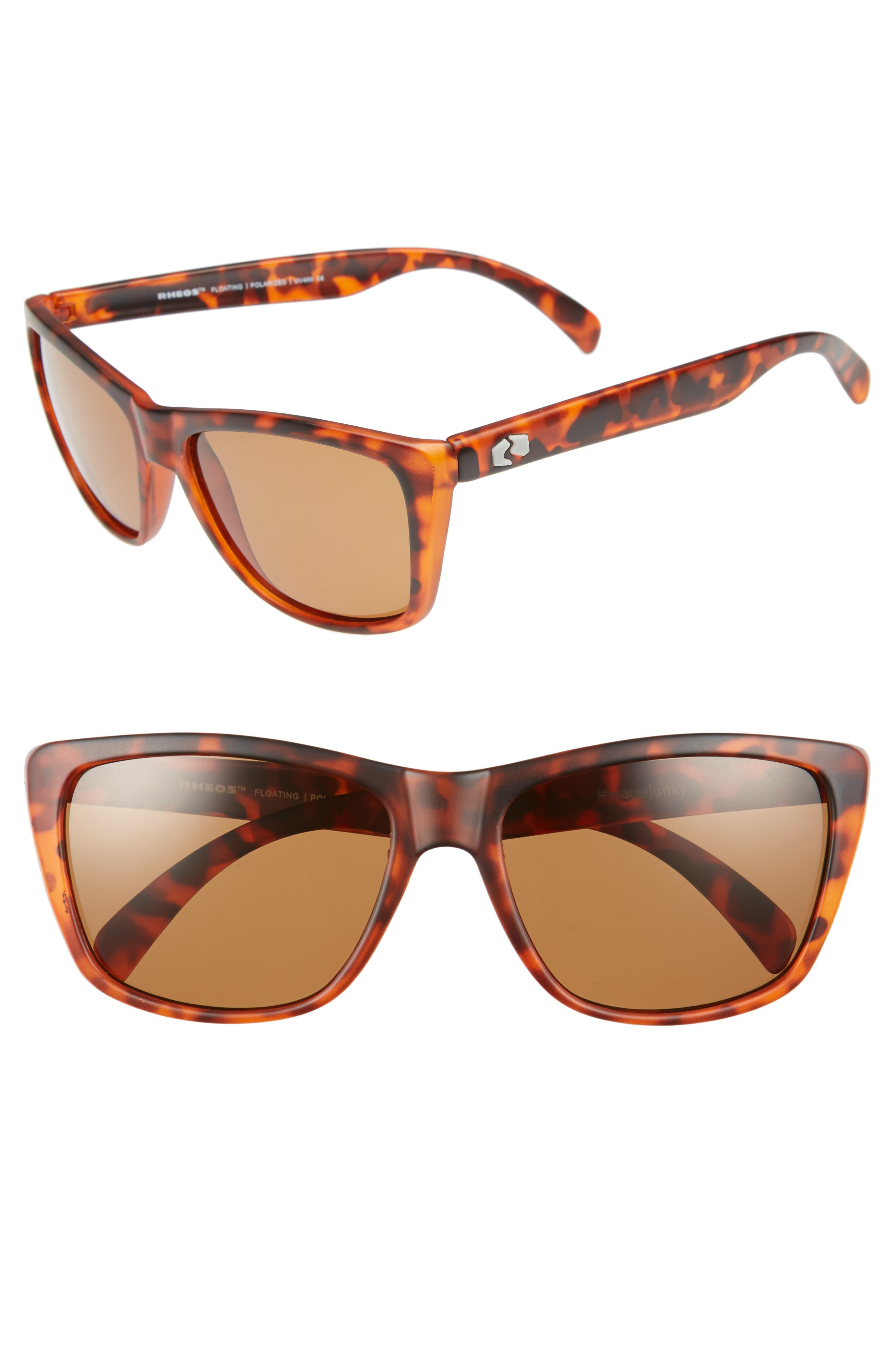 Sapelos Floating 60mm Polarized Sunglasses,                         Main,                         color, Tortoise / Amber