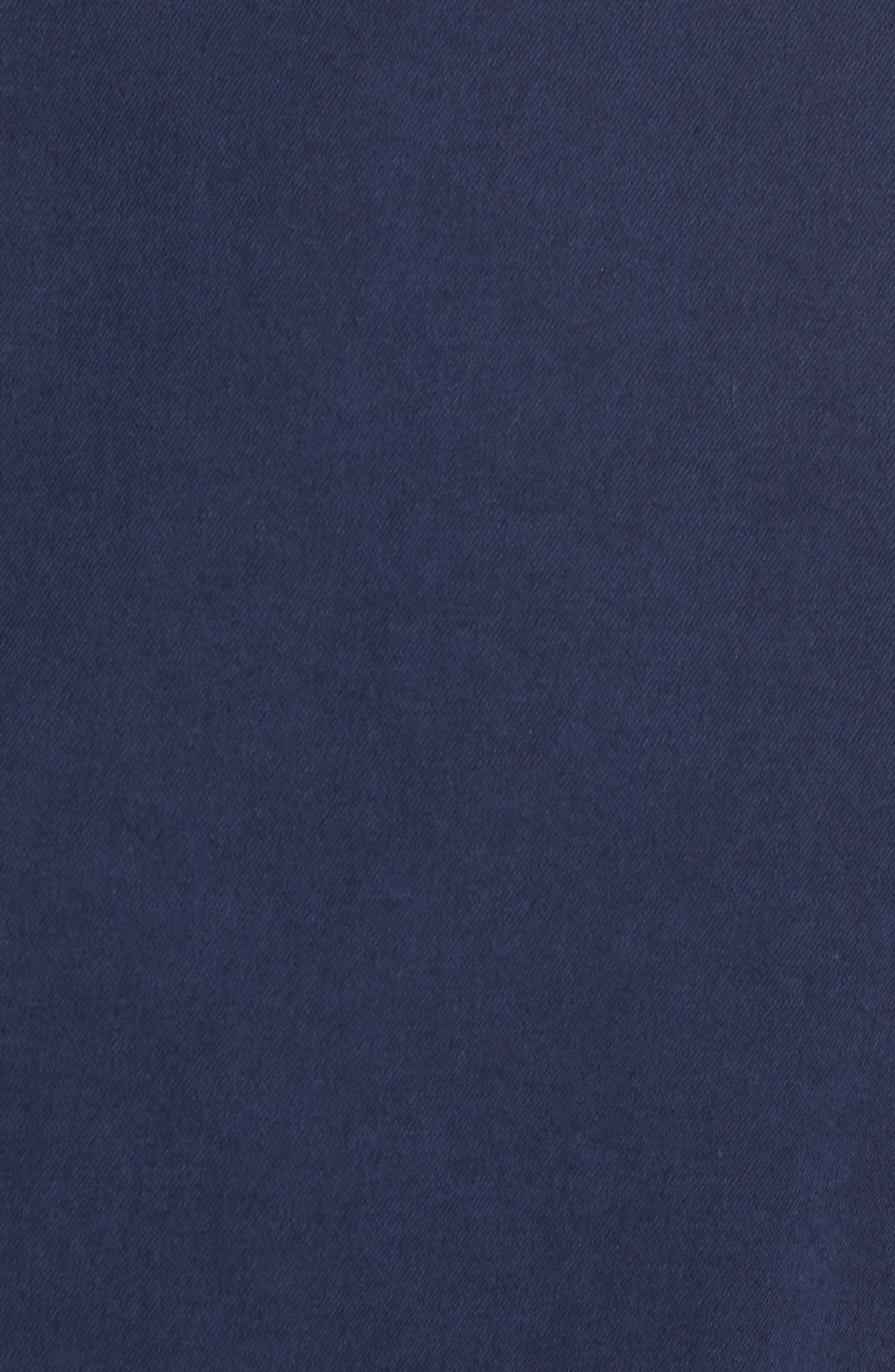 Unstructured Cotton & Linen Blazer,                             Alternate thumbnail 5, color,                             Navy