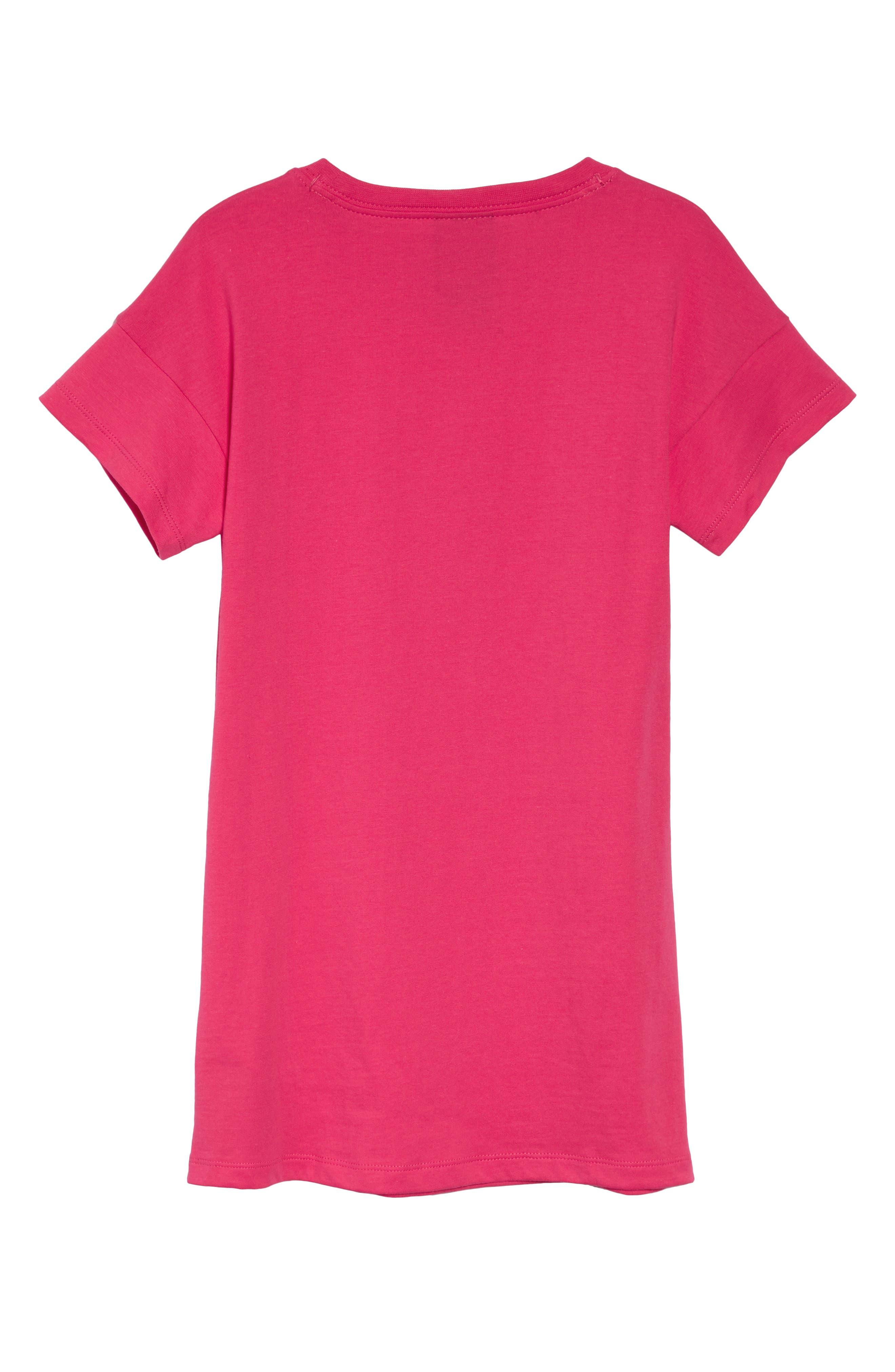 Futura T-Shirt Dress,                             Alternate thumbnail 3, color,                             Rush Pink