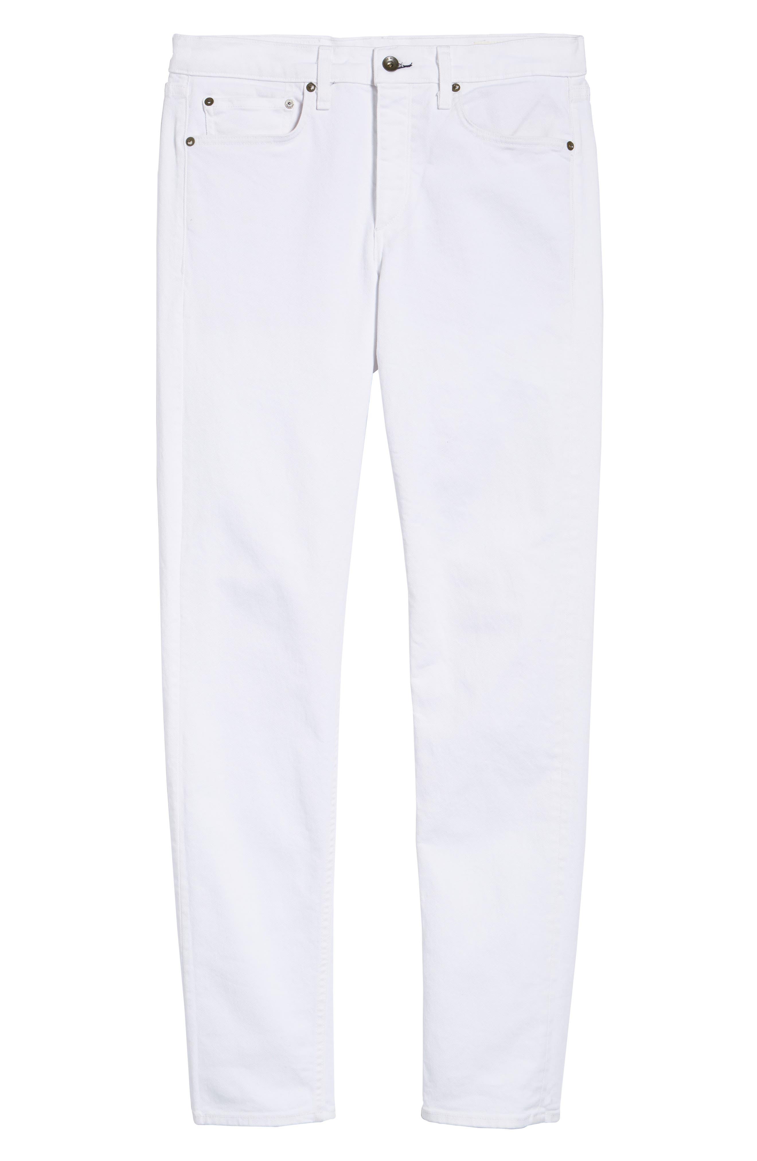 Fit 2 Slim Fit Jeans,                             Alternate thumbnail 6, color,                             White