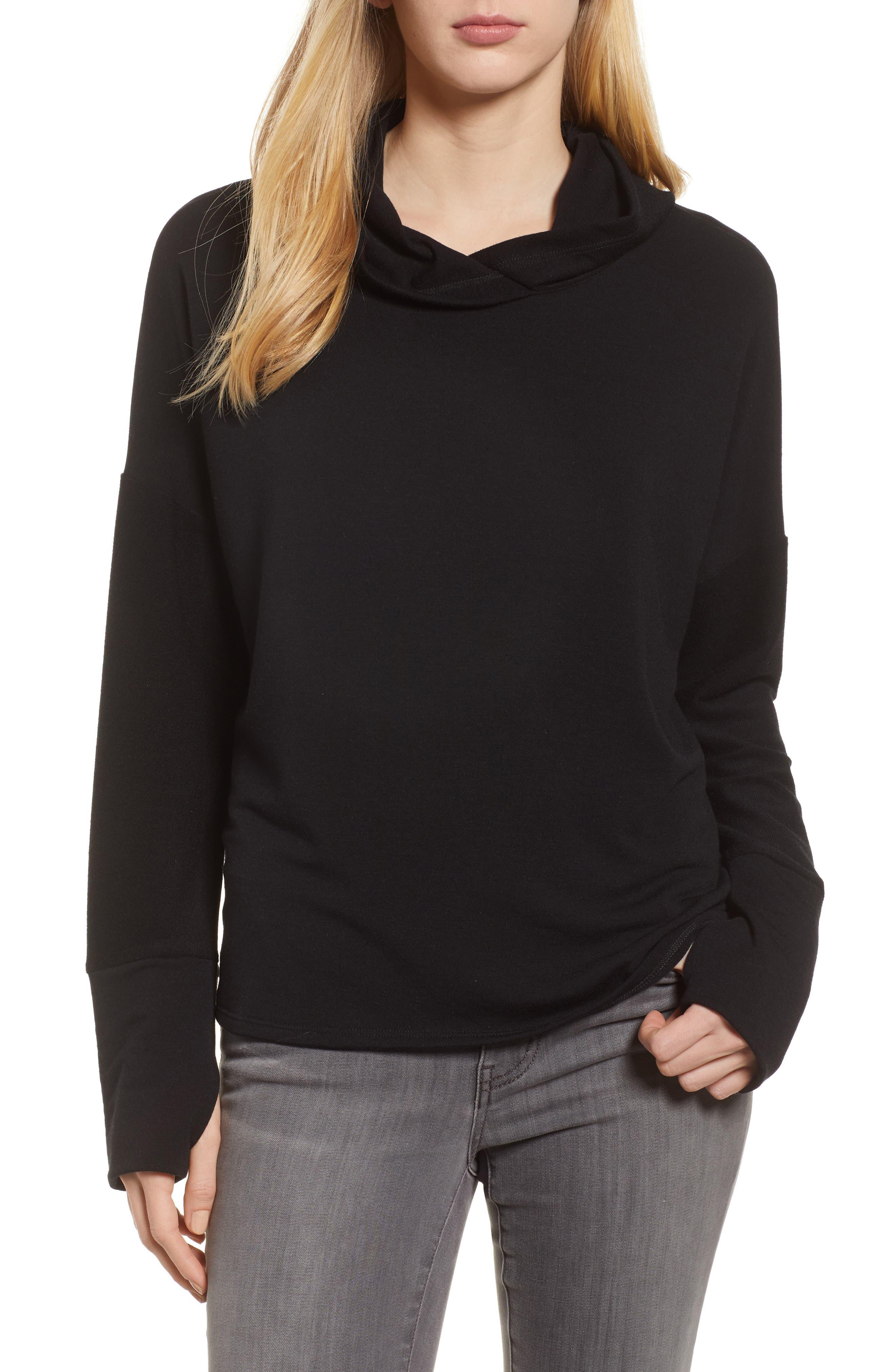 Off-Duty Hooded Sweatshirt,                             Main thumbnail 1, color,                             Black