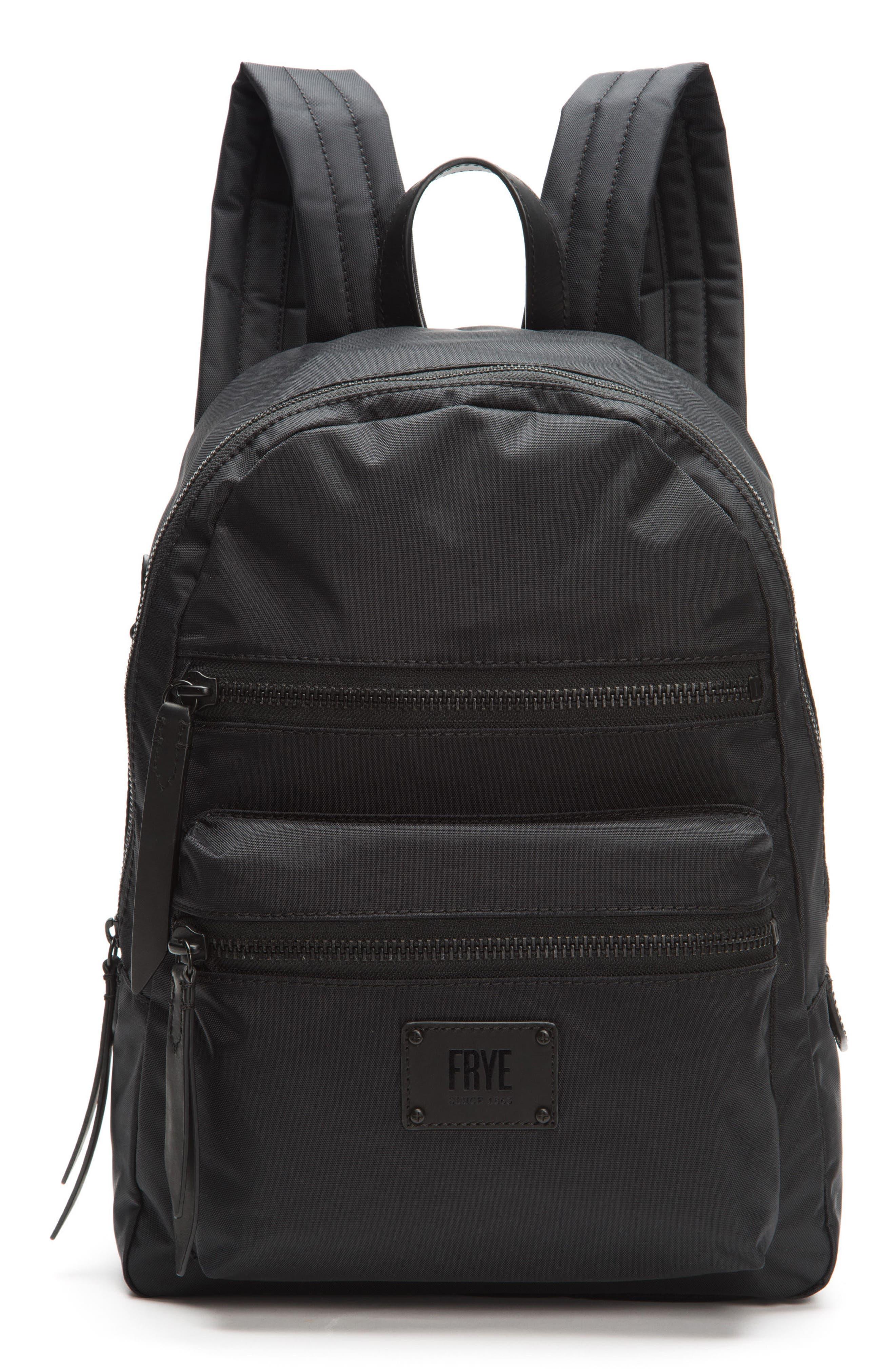 Ivy Nylon Backpack,                         Main,                         color, Matte Black
