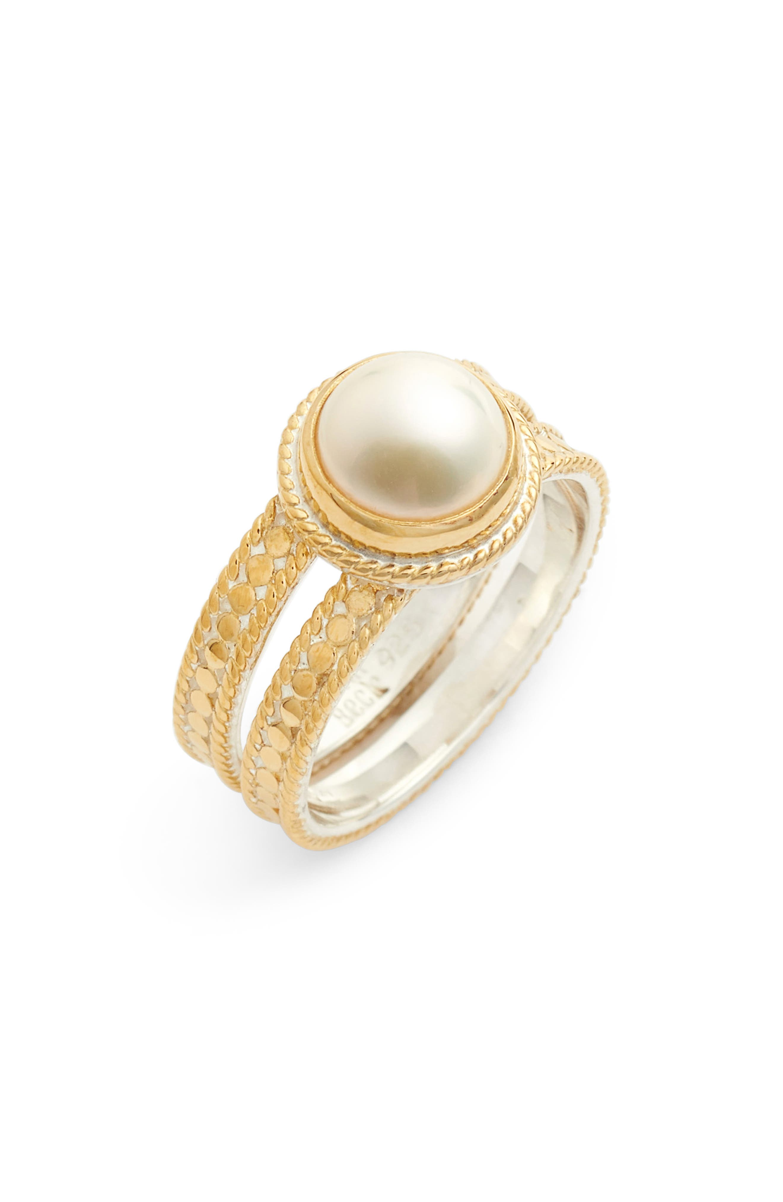 Anna Beck Pearl Double Band Ring