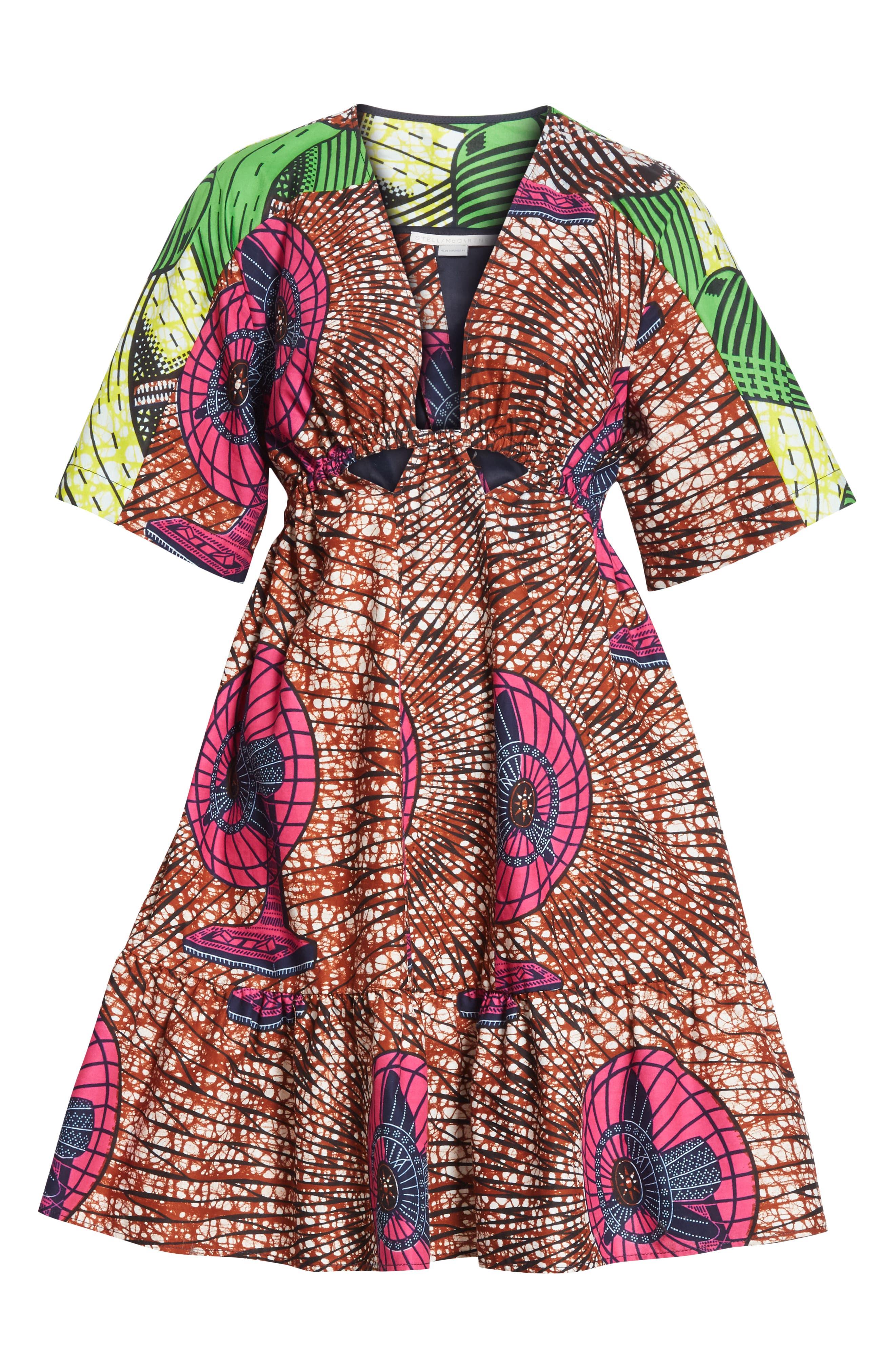 Print Cotton Dress,                             Alternate thumbnail 7, color,                             Dutch Fan Print