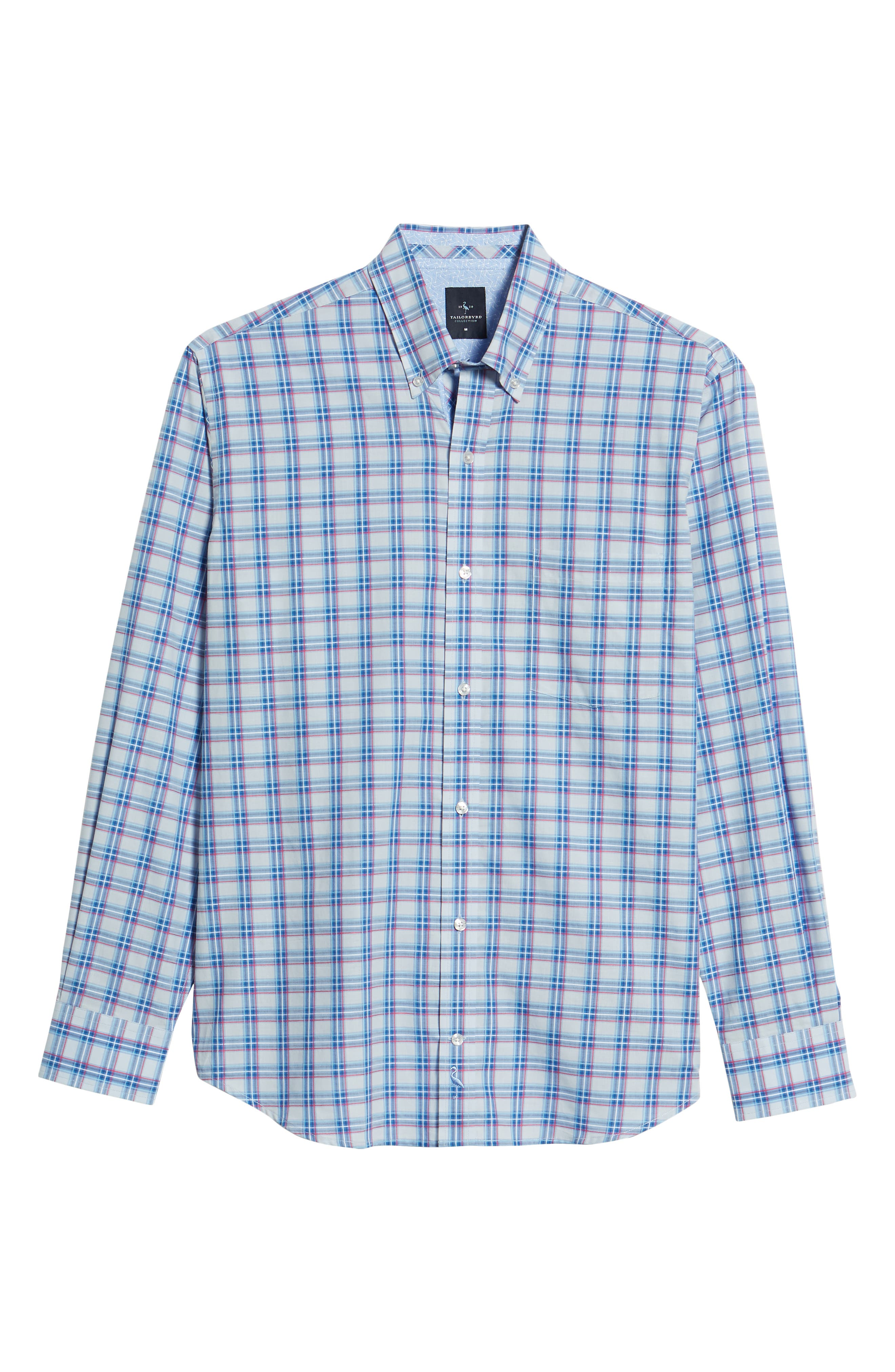 Alvaro Regular Fit Plaid Sport Shirt,                             Alternate thumbnail 6, color,                             Light Blue