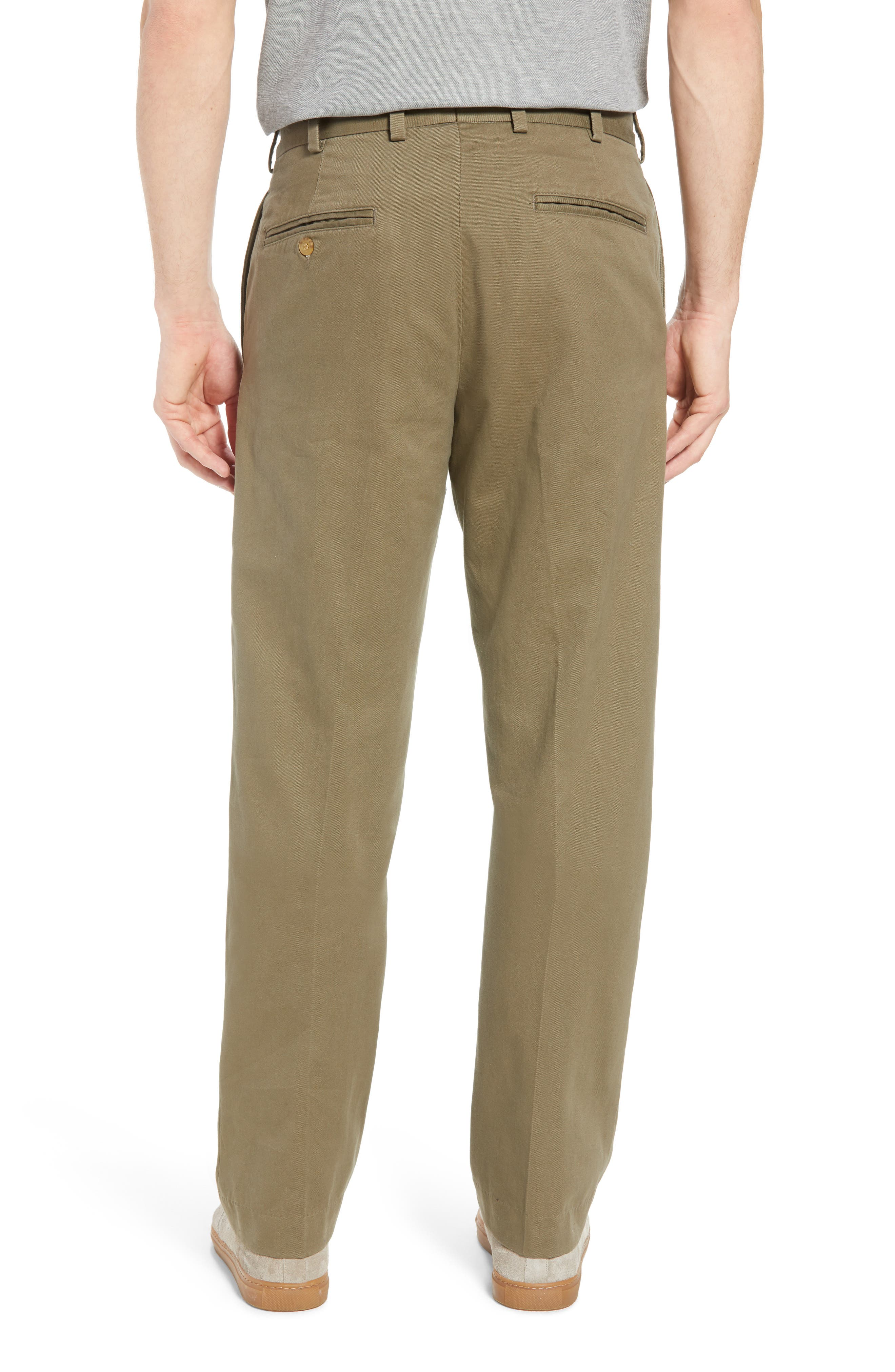 M2 Classic Fit Flat Front Vintage Twill Pants,                             Alternate thumbnail 2, color,                             Olive