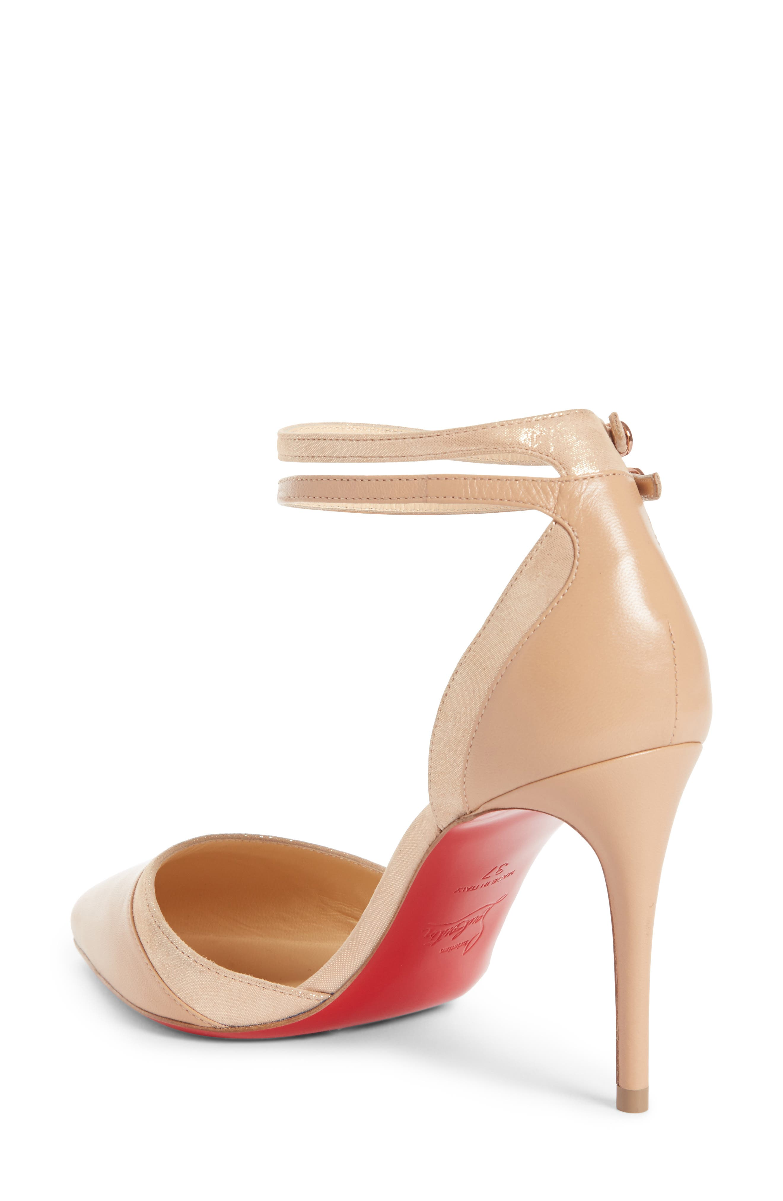 Uptown Ankle Strap Pump,                             Alternate thumbnail 2, color,                             Nude