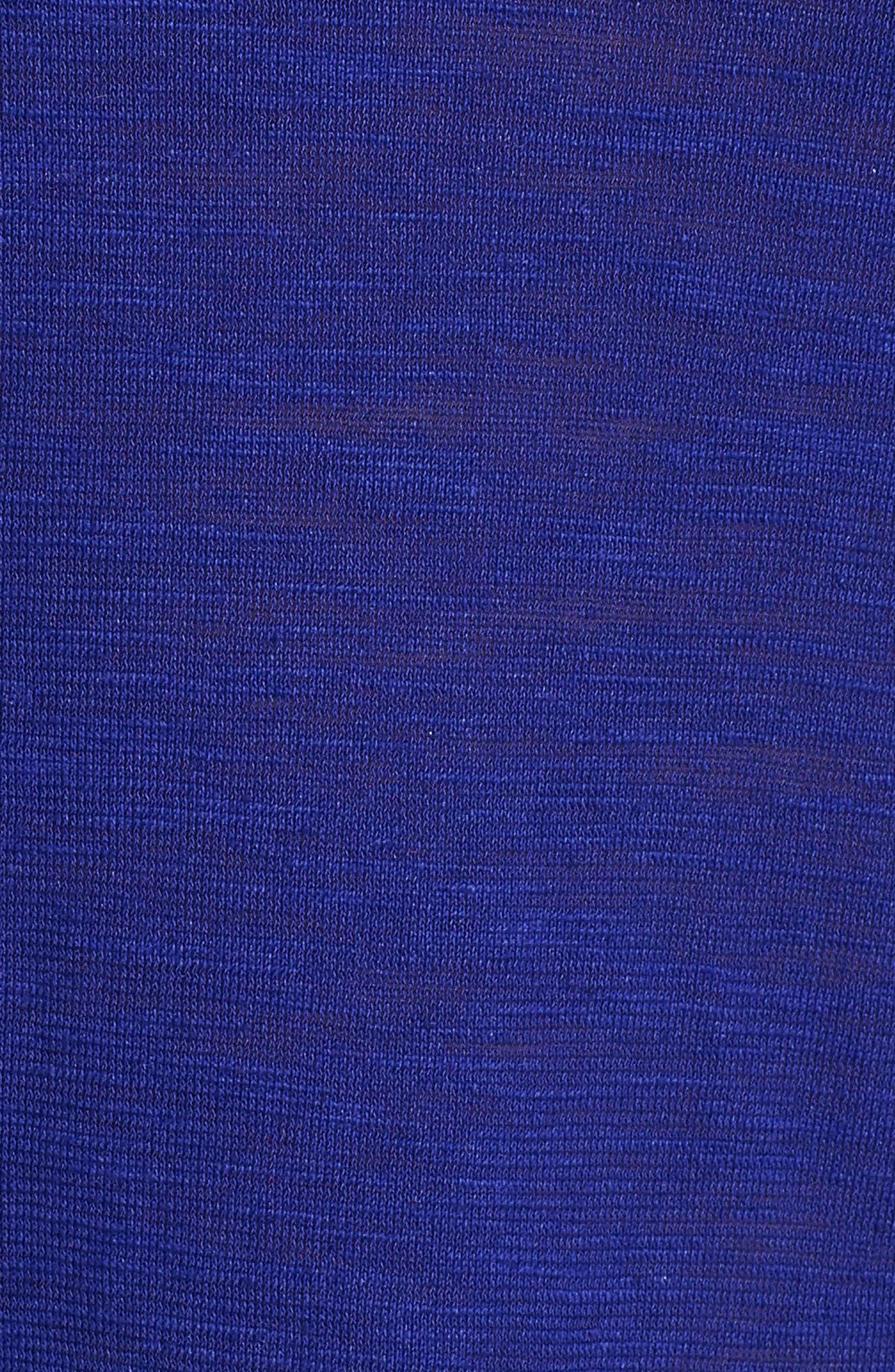 Scooped Neck Hemp & Cotton Midi Dress,                             Alternate thumbnail 5, color,                             Blue Violet
