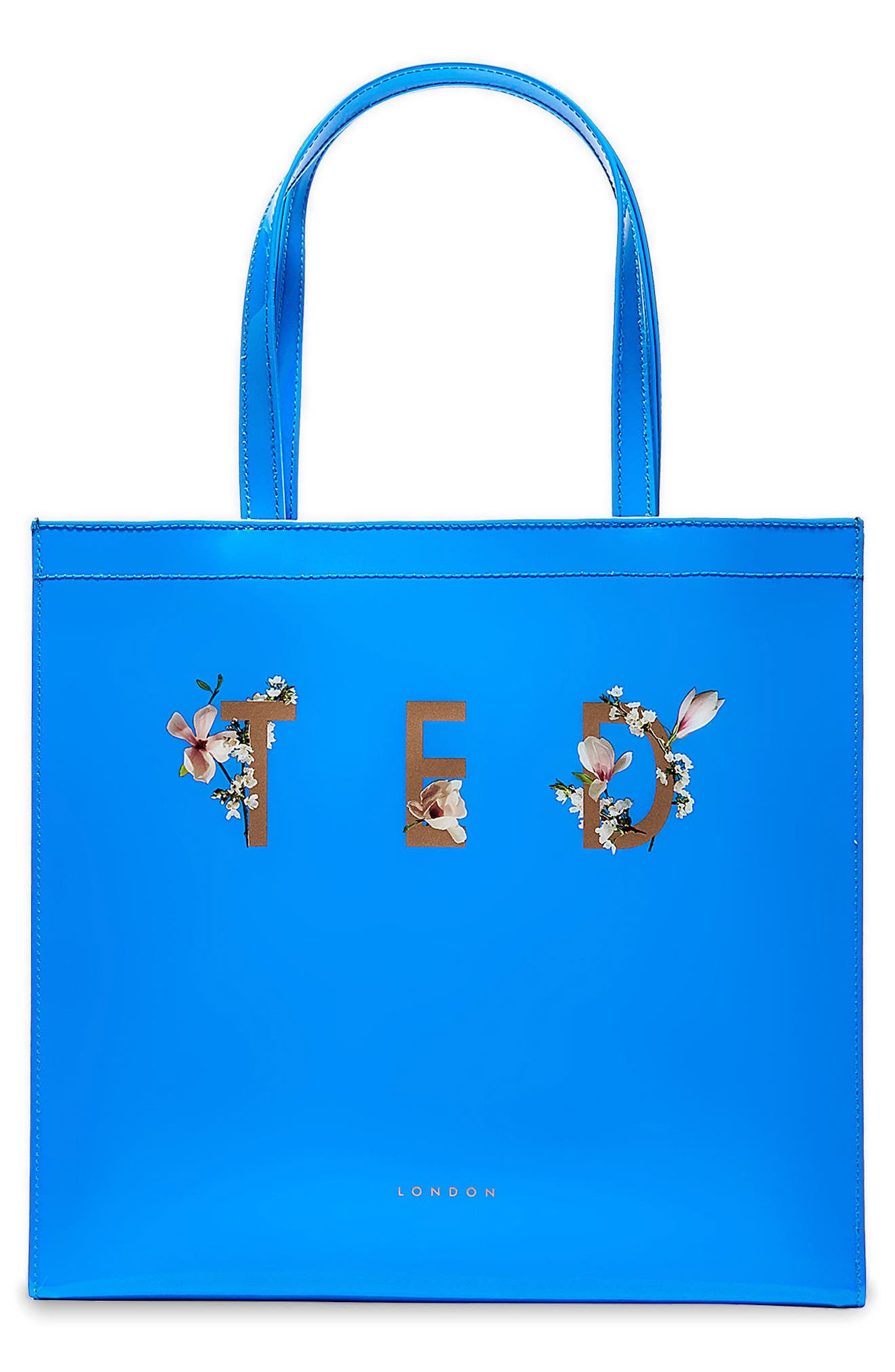 Theacon Large Icon Tote,                             Main thumbnail 1, color,                             Bright Blue