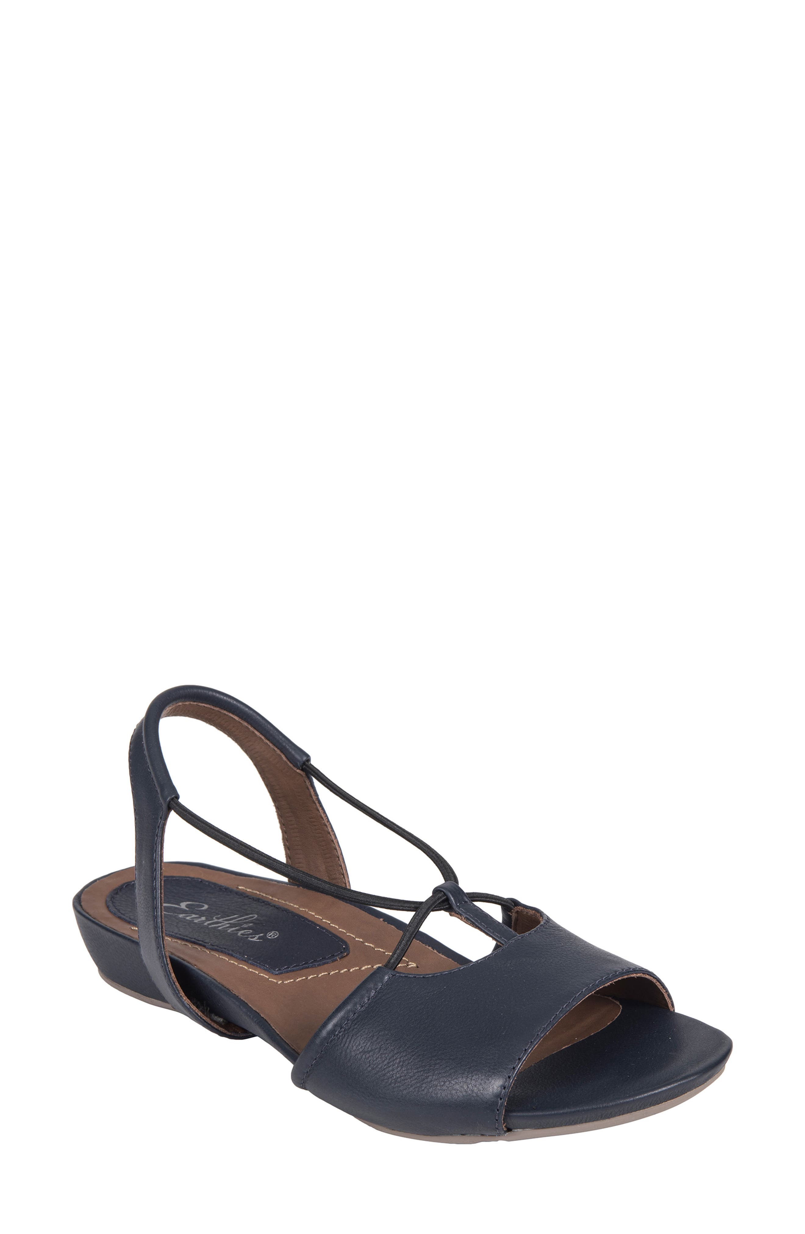 Lacona Sandal,                         Main,                         color, Navy Leather