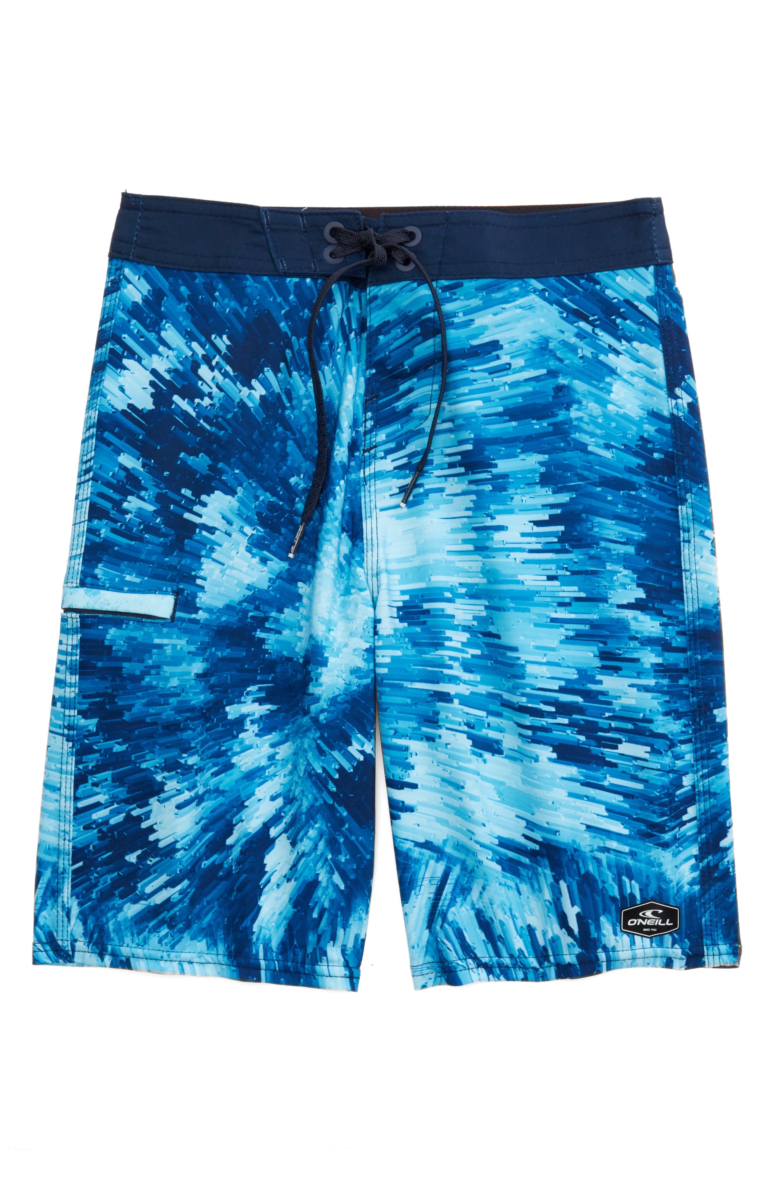 Hyperfreak Crystalize Board Shorts,                         Main,                         color, Blue