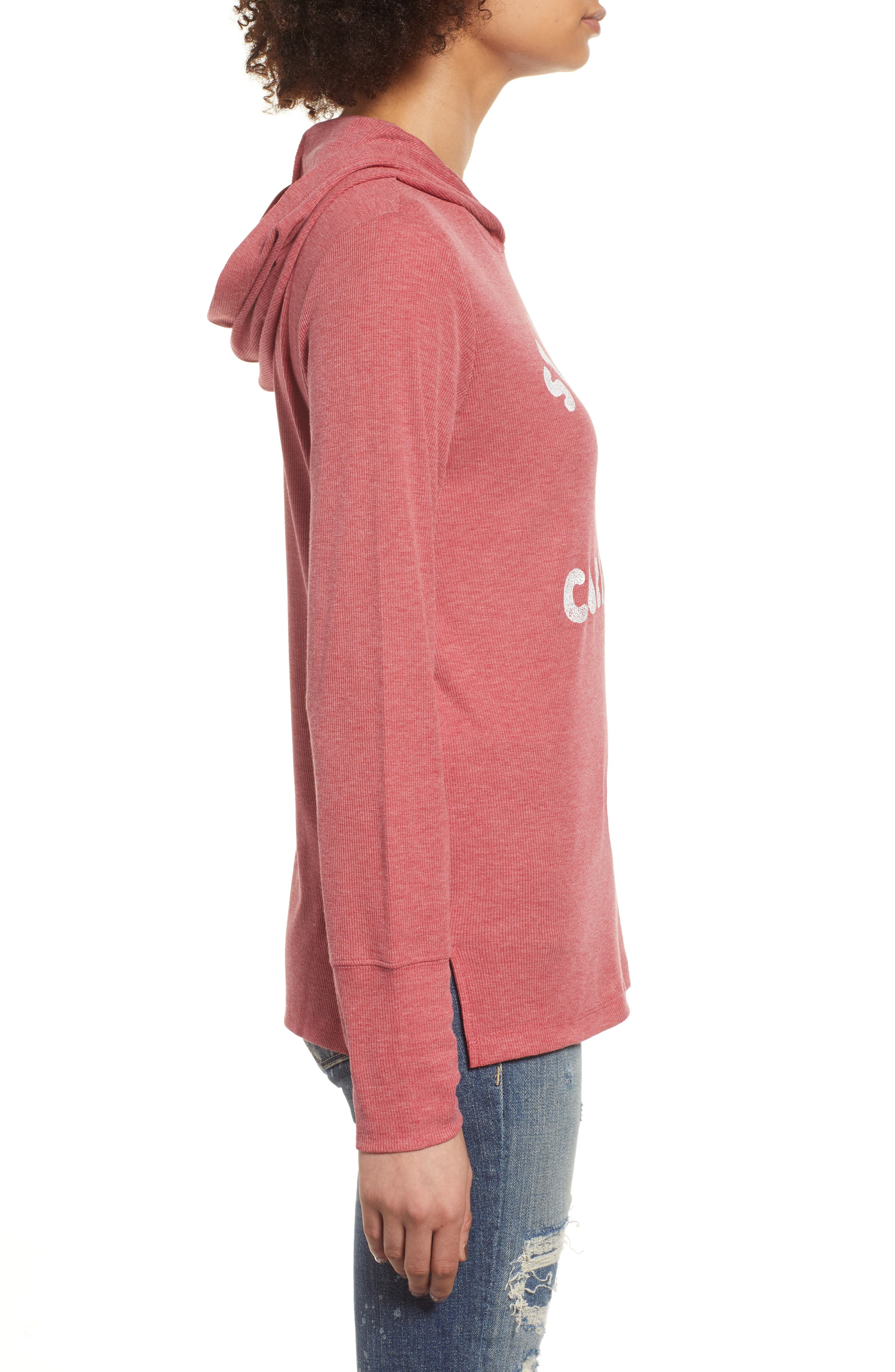 Campbell St. Louis Cardinals Rib Knit Hooded Top,                             Alternate thumbnail 3, color,                             Rescue Red