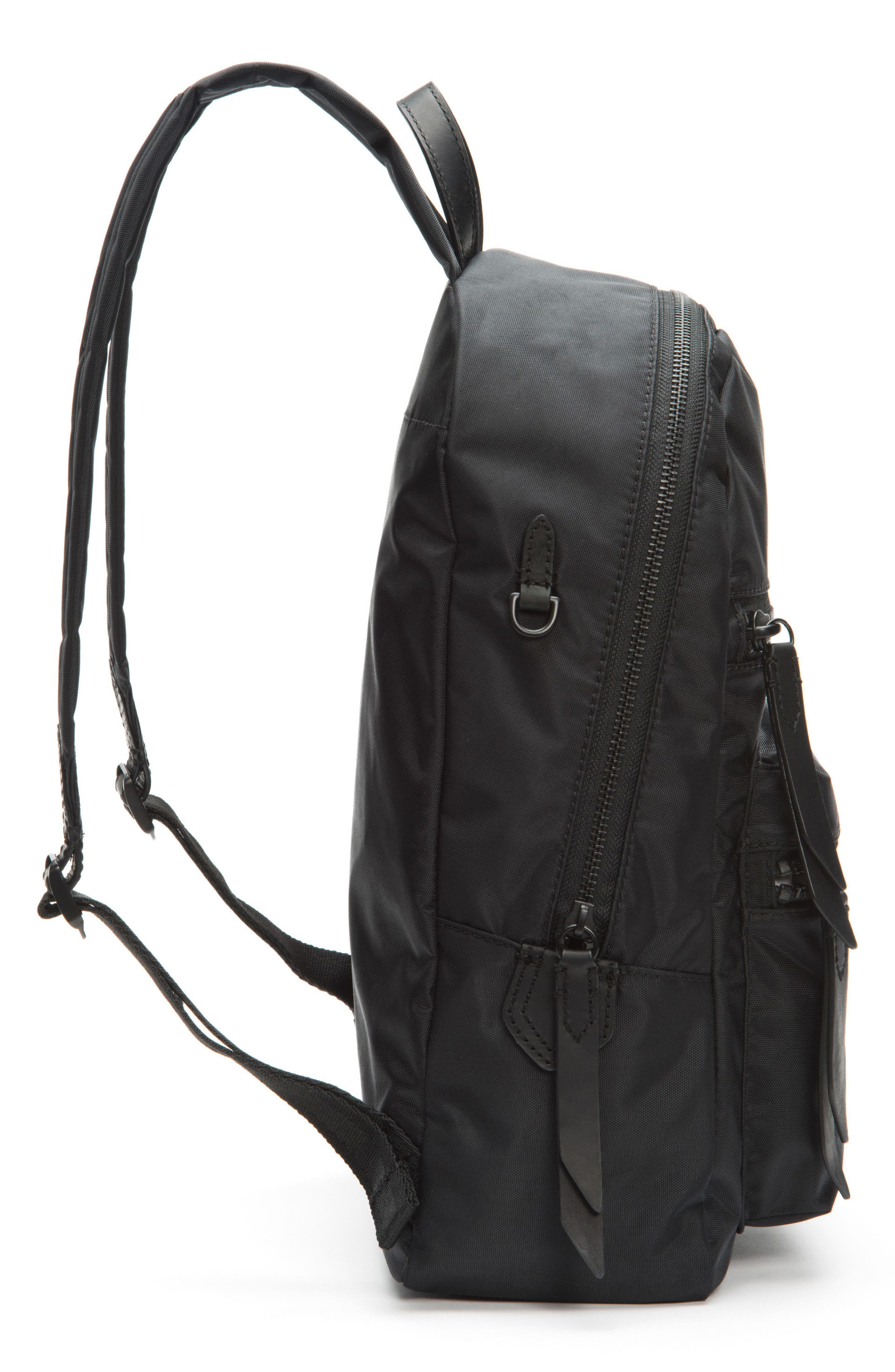 Ivy Nylon Backpack,                             Alternate thumbnail 5, color,                             Matte Black