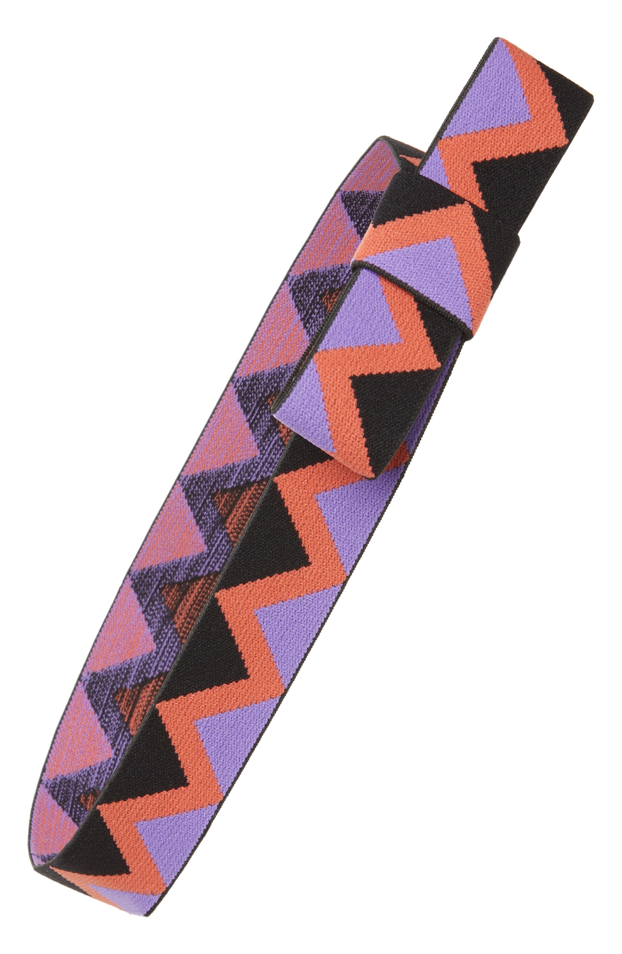 Zigzag Head Wrap,                         Main,                         color, Purple Multi