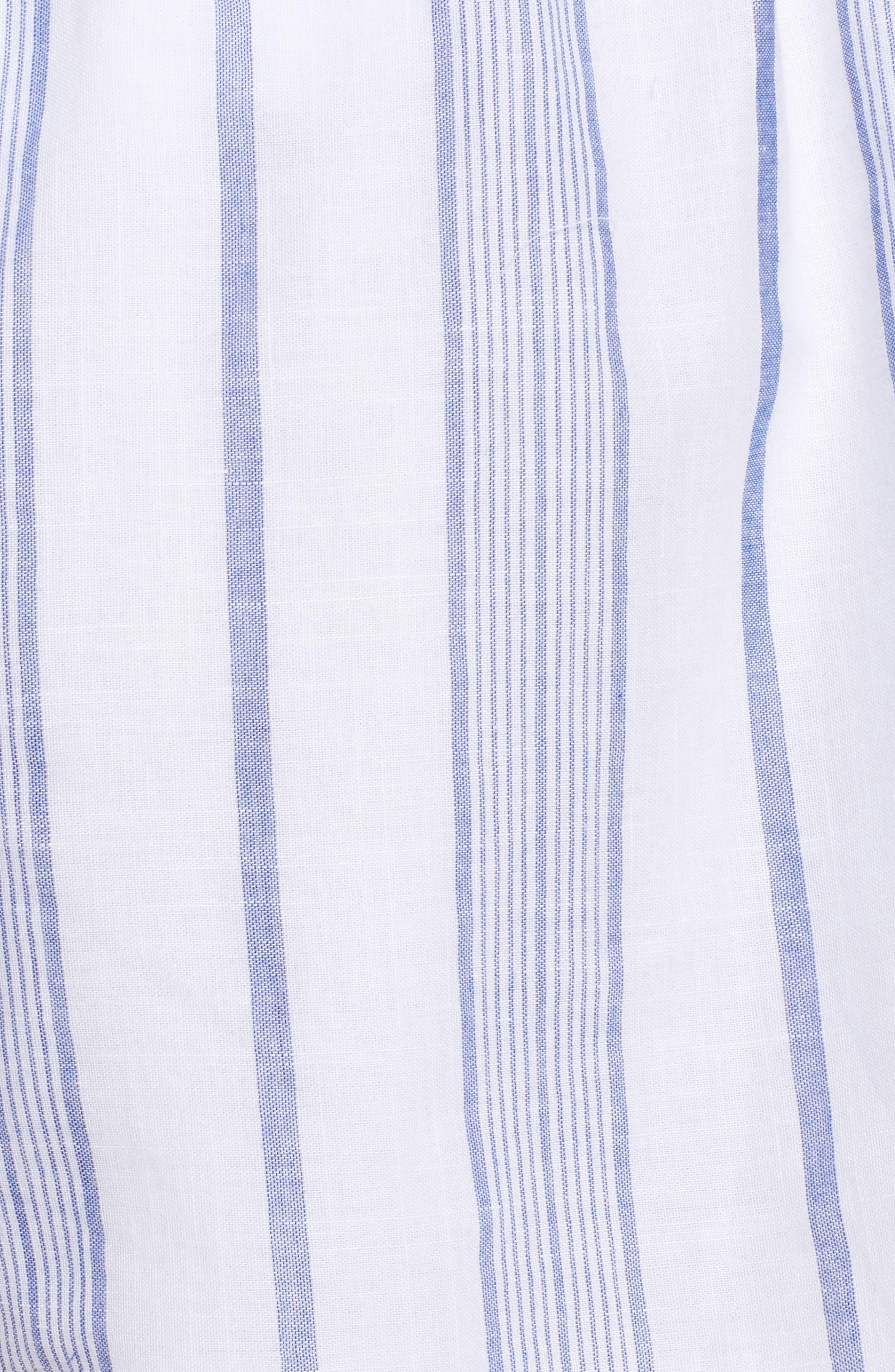 Stripe Tie Waist Shorts,                             Alternate thumbnail 6, color,                             Sky Stripe