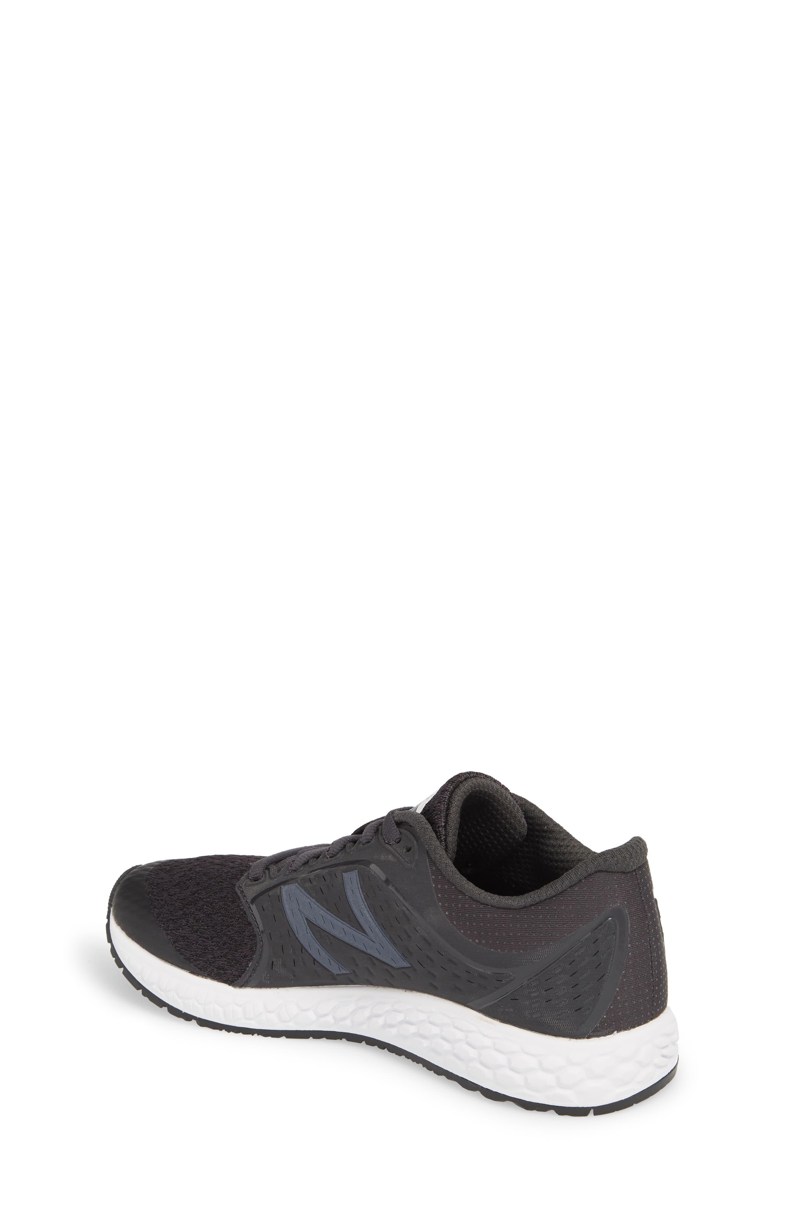 Fresh Foam Zante v4 Running Shoe,                             Alternate thumbnail 2, color,                             Black/ White