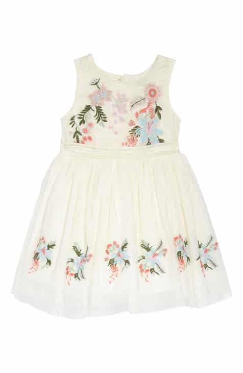 Girls off white special occasions clothing accessories shoes nanette lepore flower embroidered party dress toddler girls little girls mightylinksfo