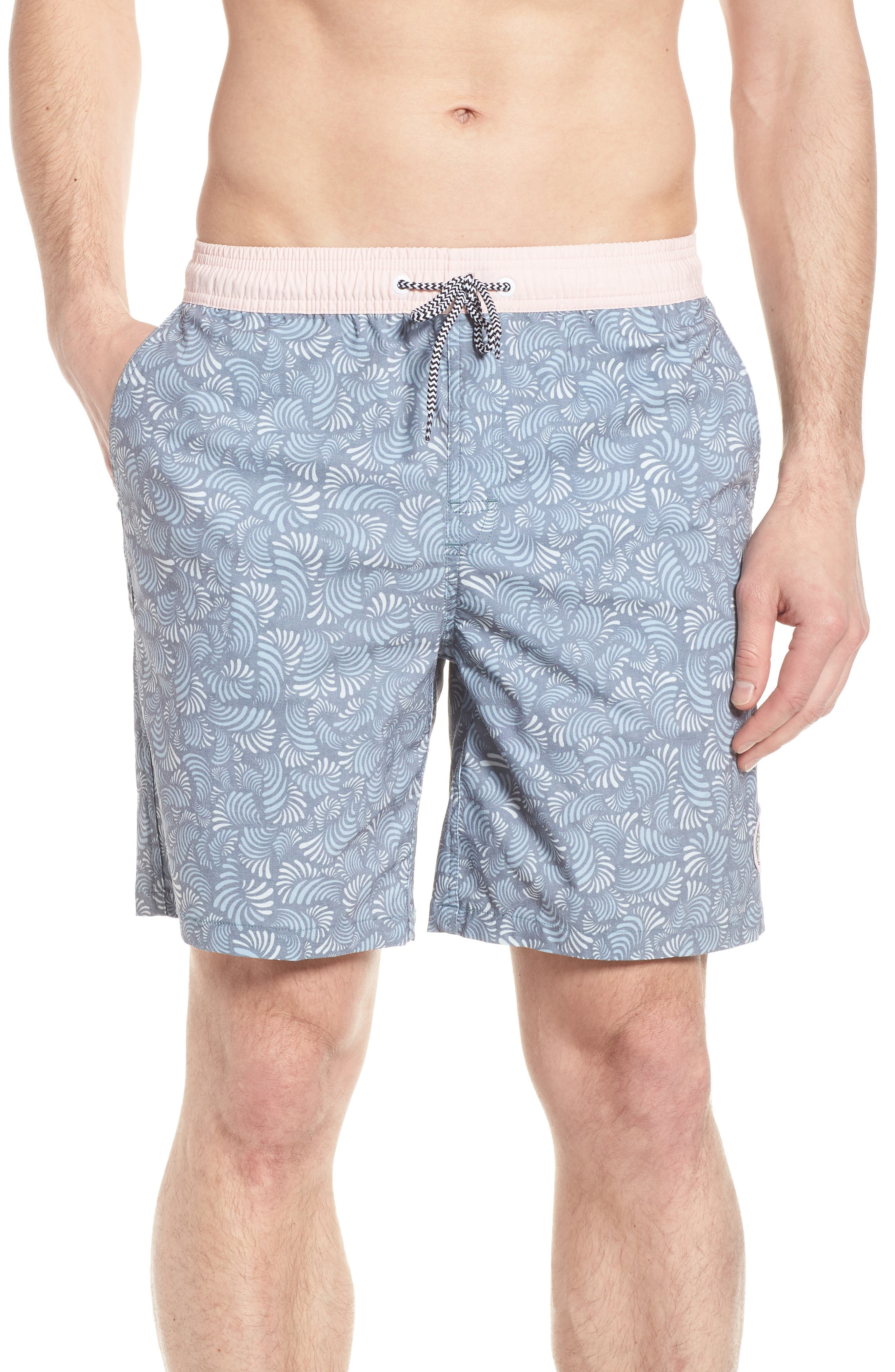 Hayworth Mix Board Shorts,                         Main,                         color, Light Pink/ Blue
