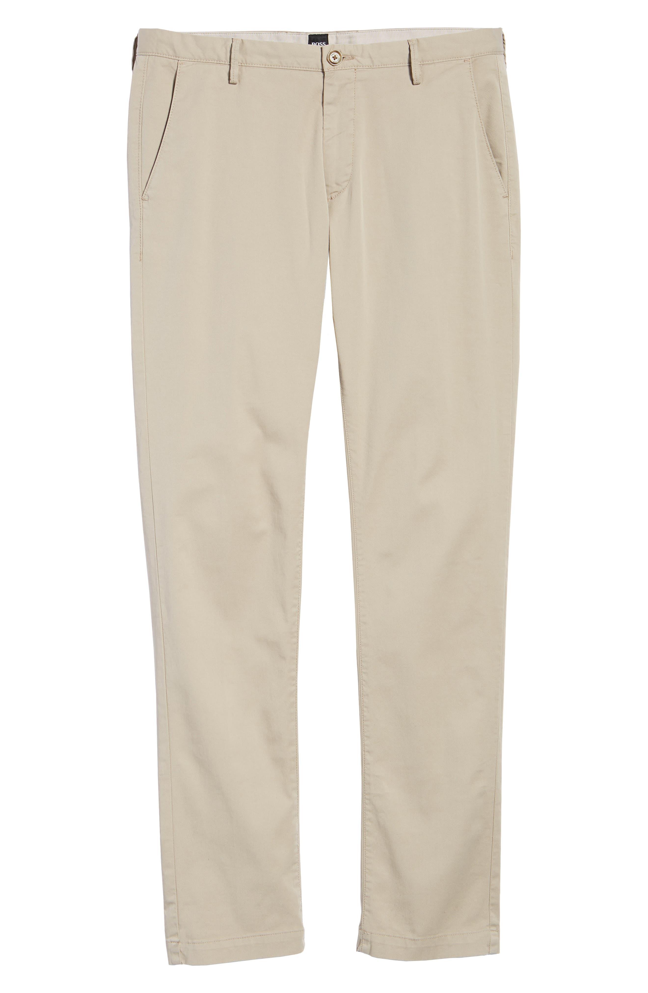Rice Slim Fit Chino Pants,                             Alternate thumbnail 6, color,                             Brown